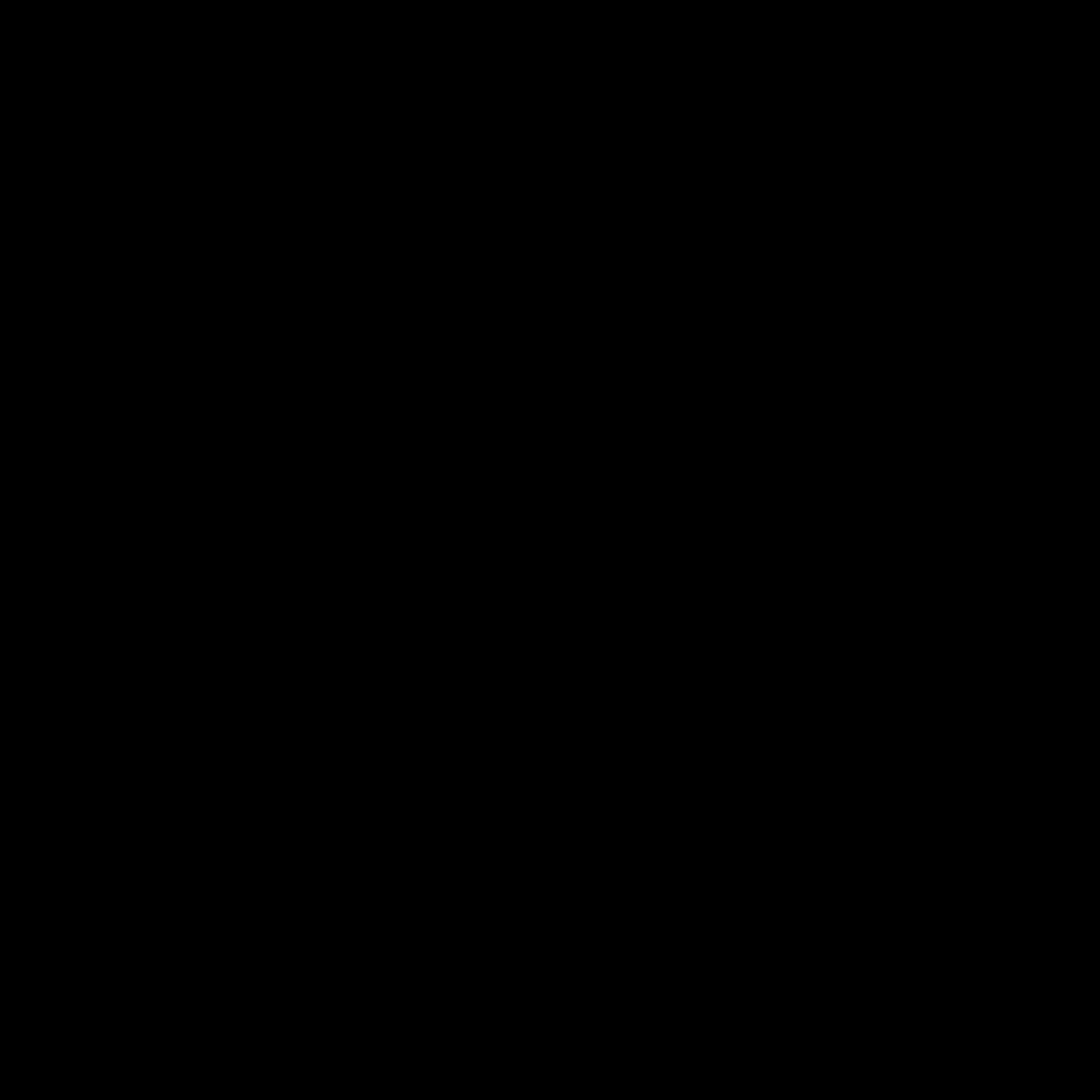 Naklejka na ścianę kotwica kontur