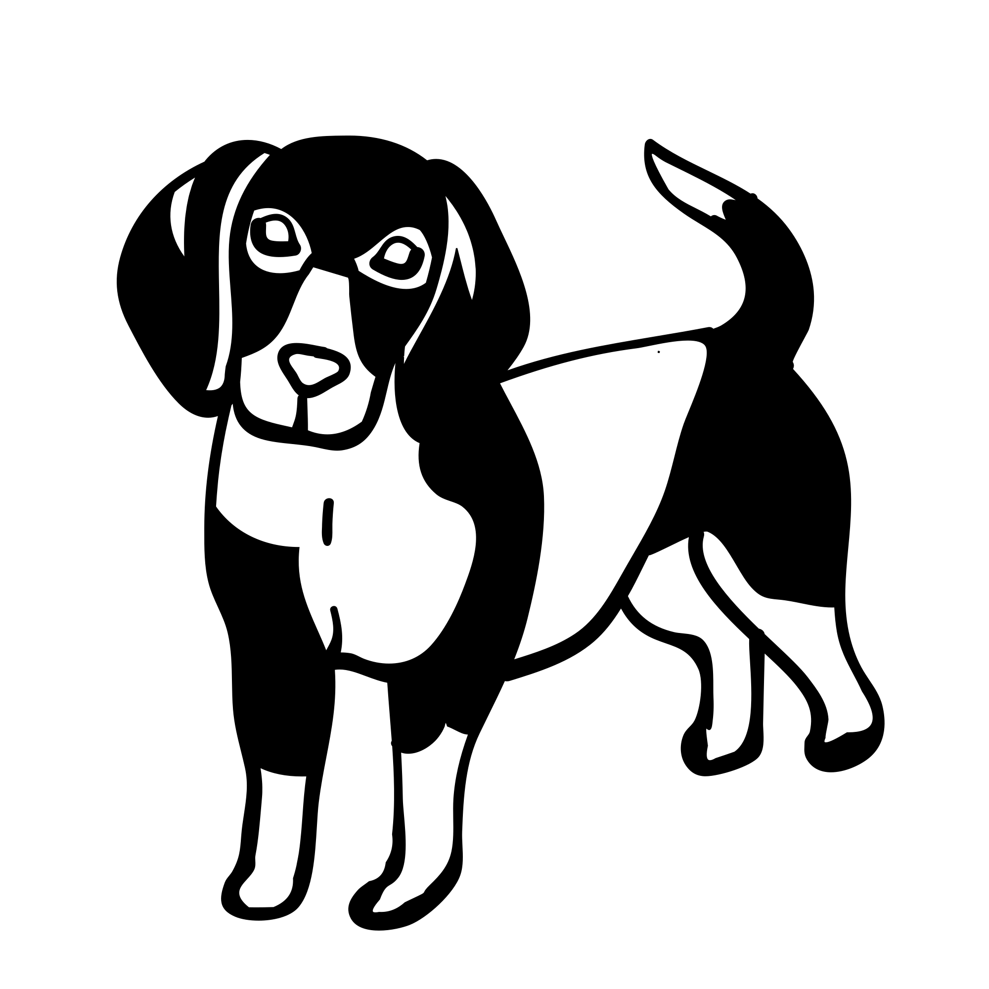 Naklejka na ścianę pies beagle 7