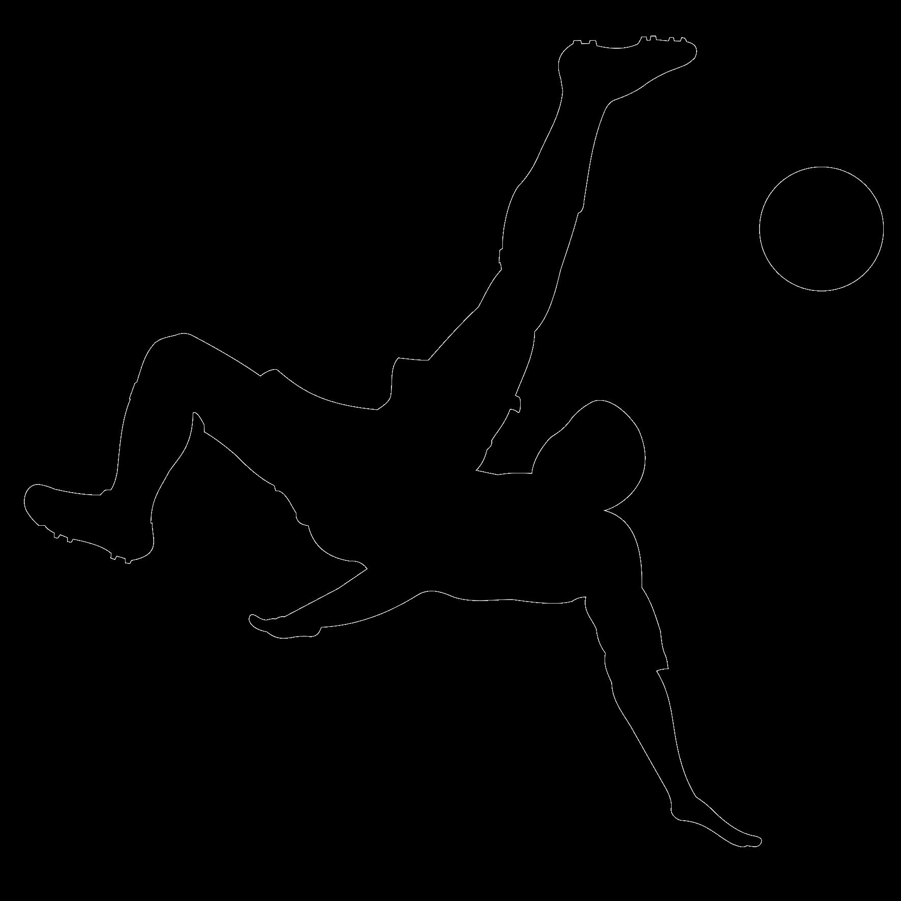 Naklejka na ścianę piłkarz napastnik