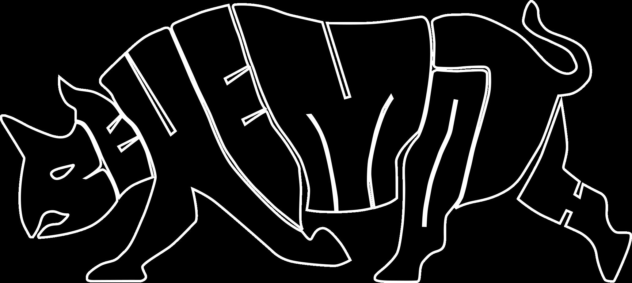 Naklejka na ścianę nosorożec grafika 4