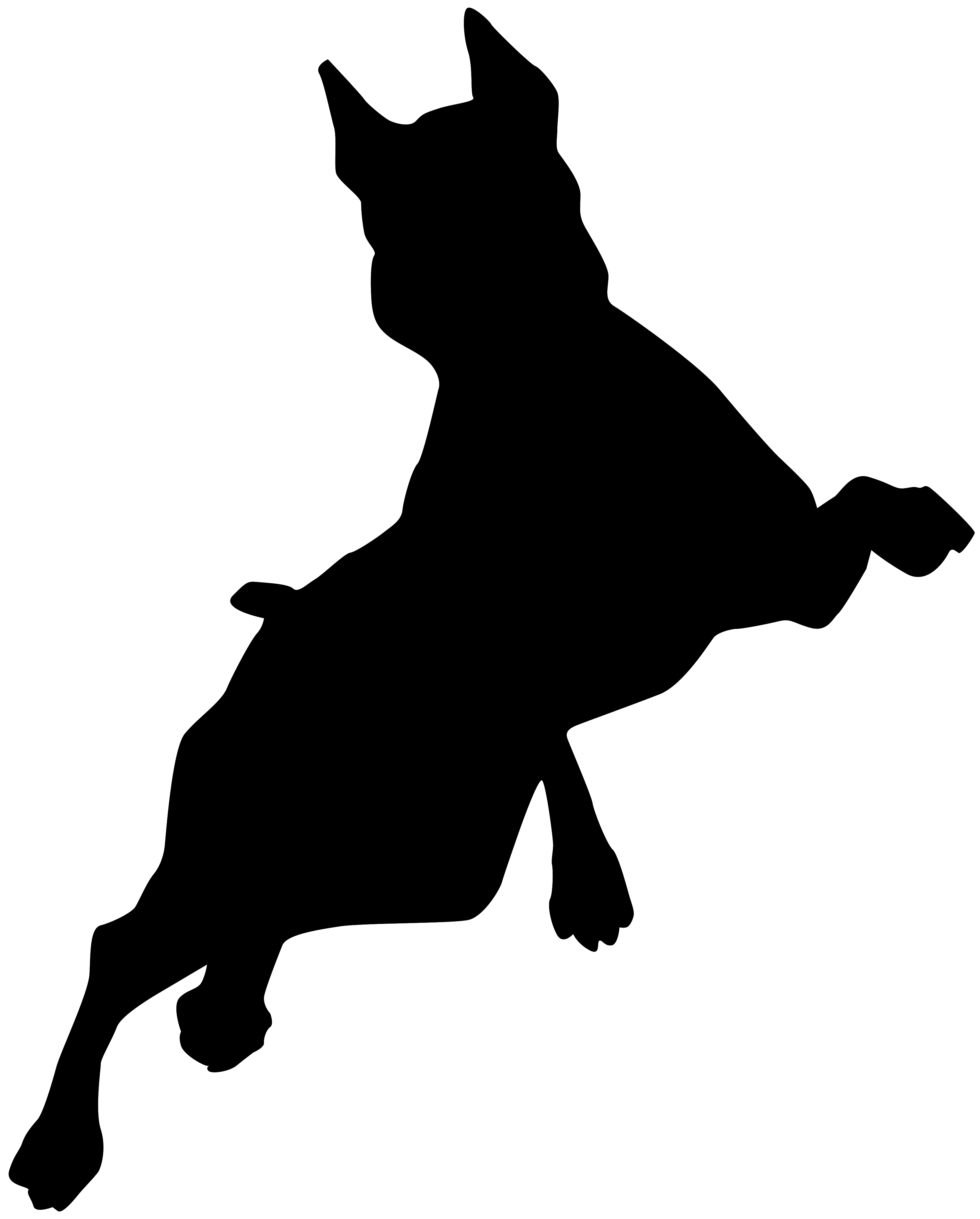 Naklejka na ścianę WESOŁY BOKSER