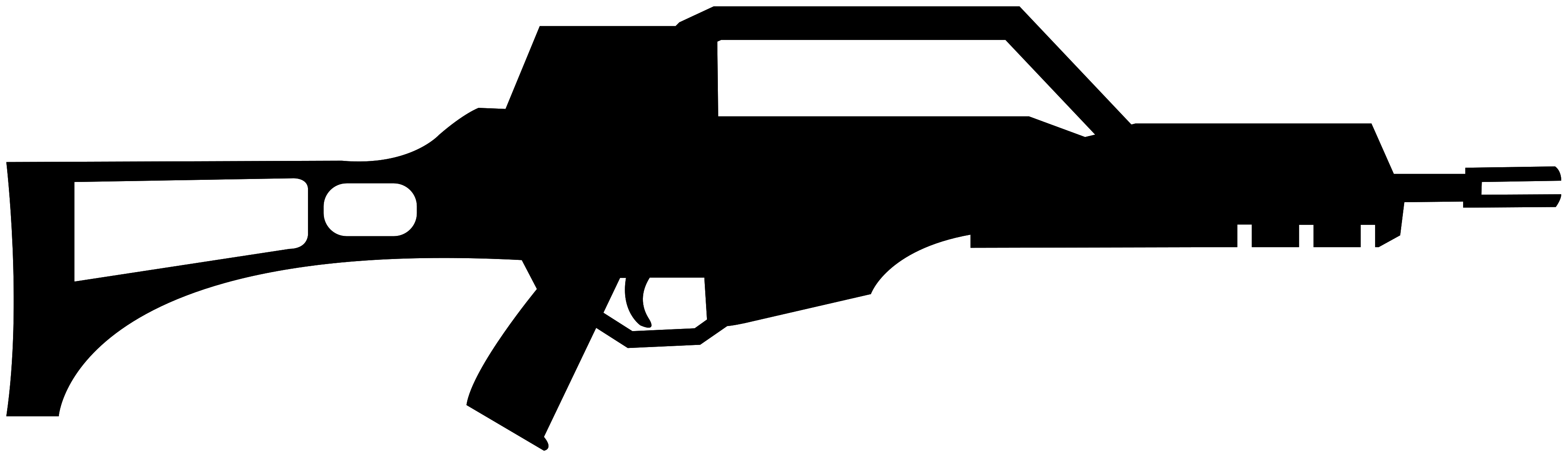 Naklejka na ścianę famas karabin