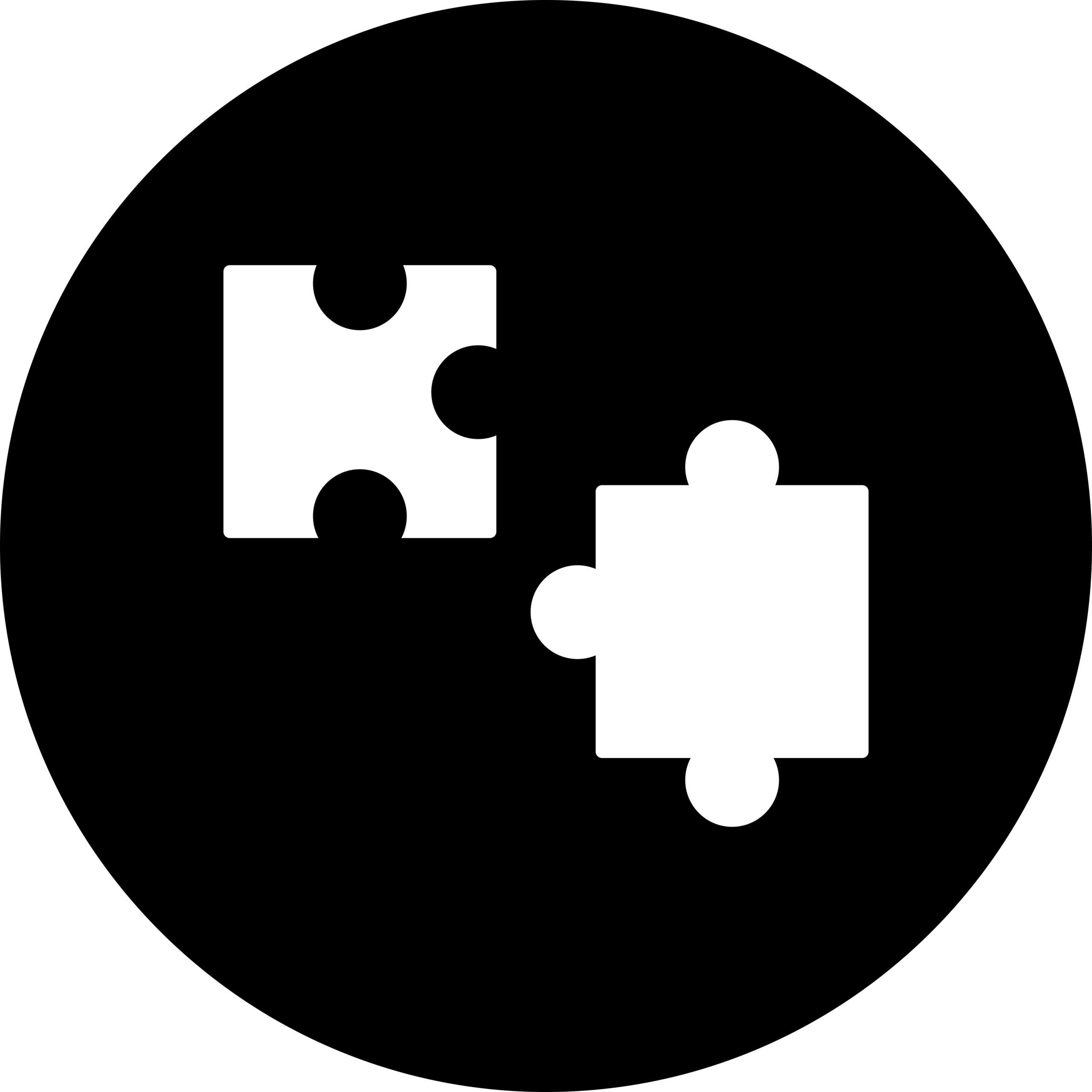 Naklejka na ścianę puzzle koło