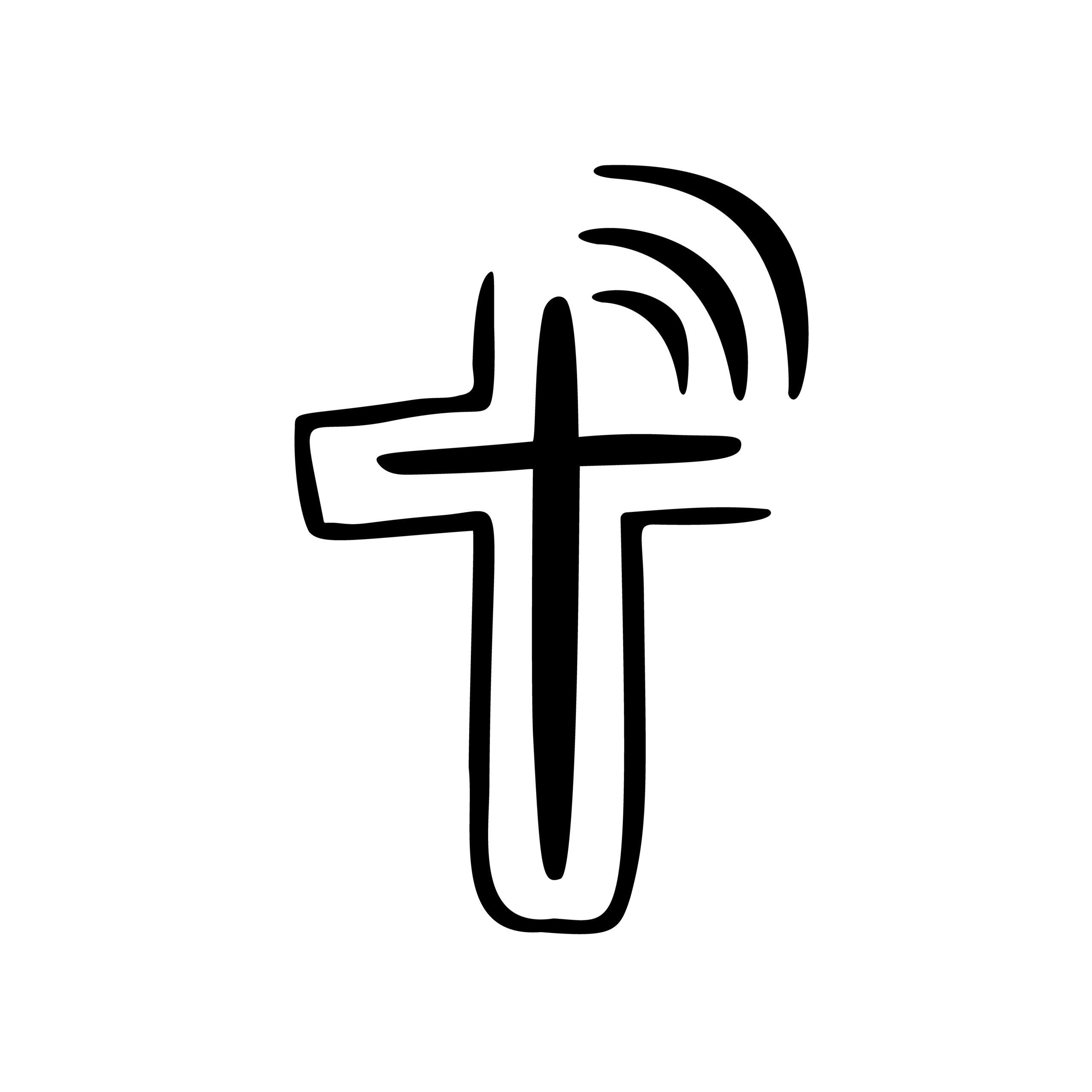 Naklejka na ścianę krzyż modlitwa