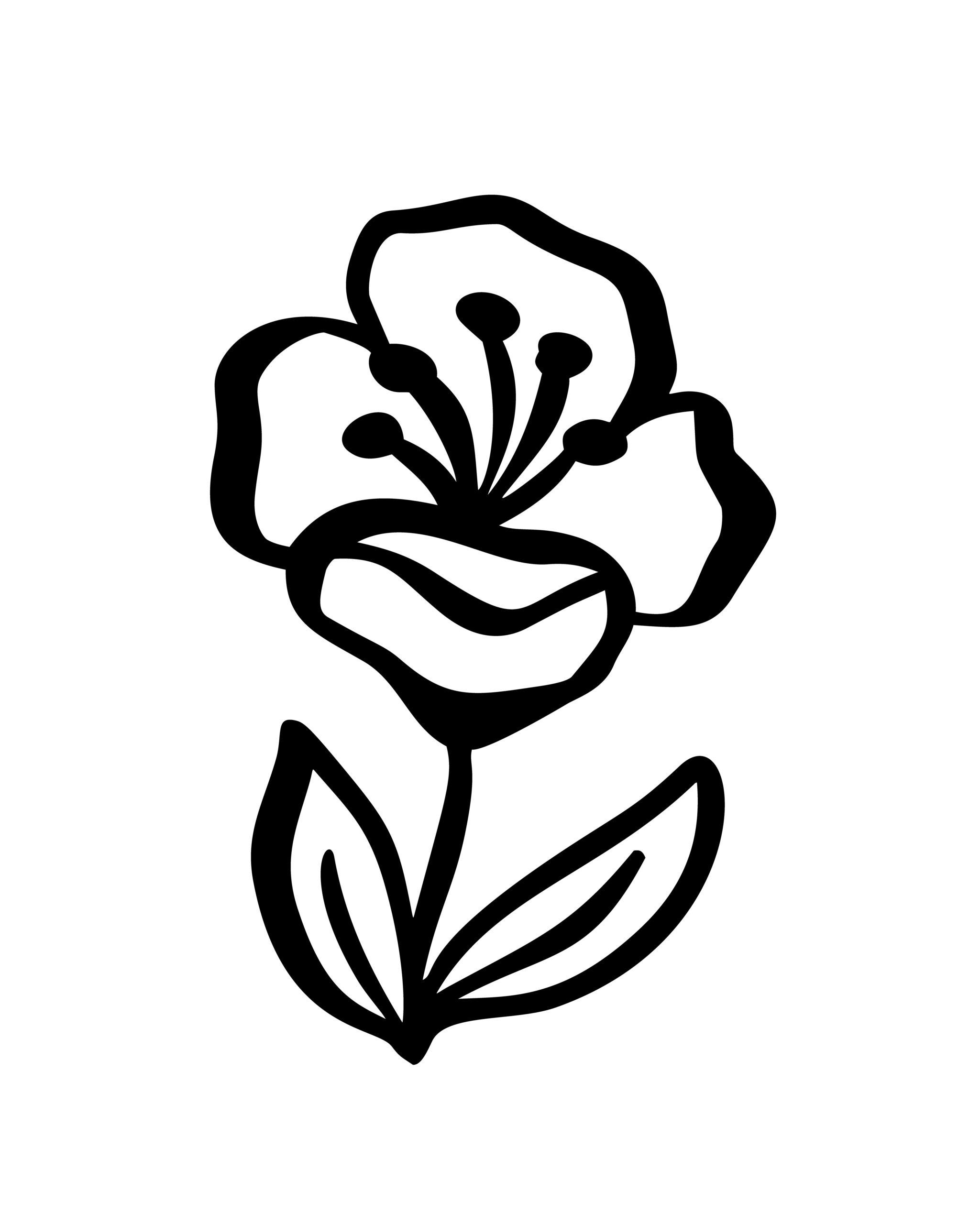Naklejka na ścianę kwiat na polanie