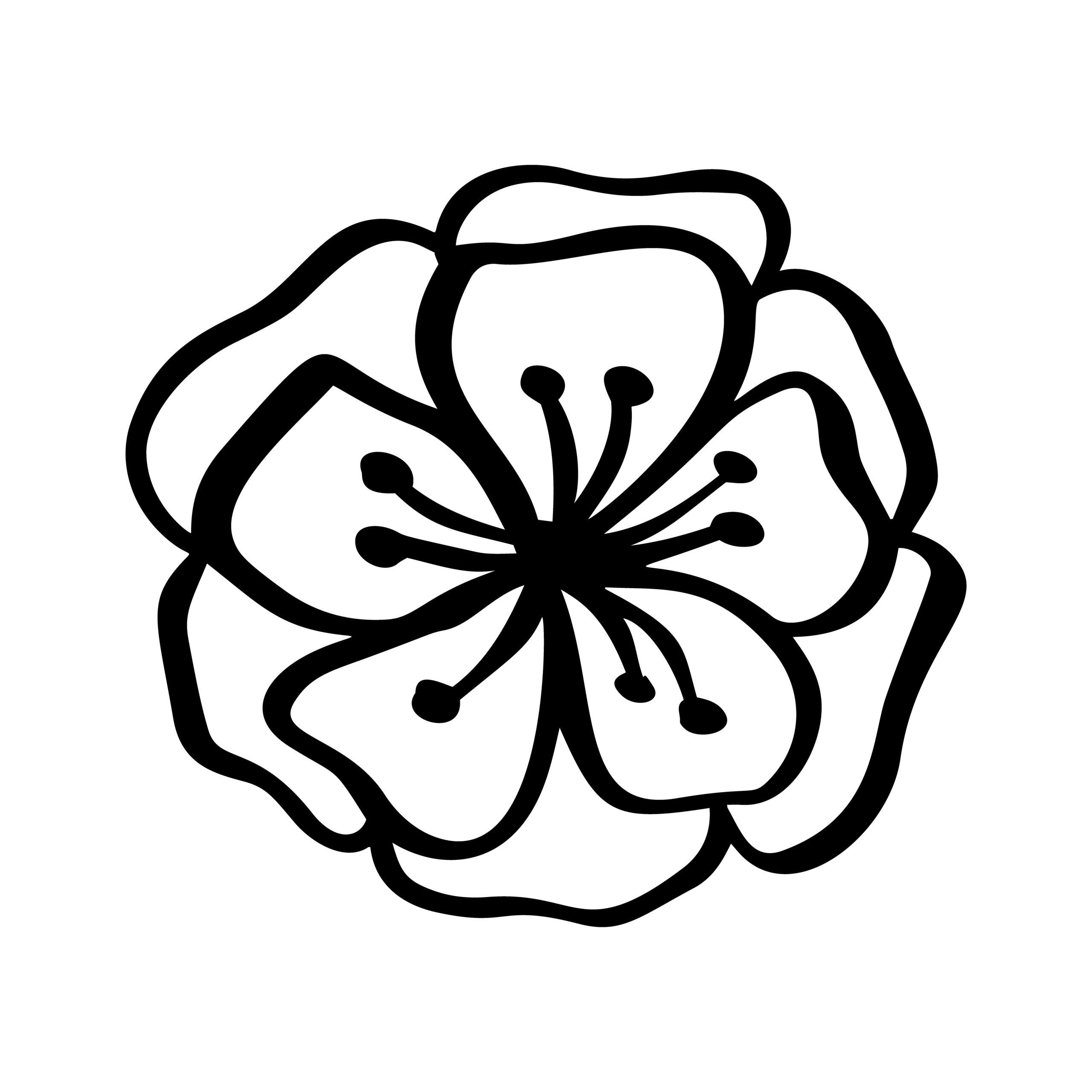 Naklejka na ścianę kwiatek z góry