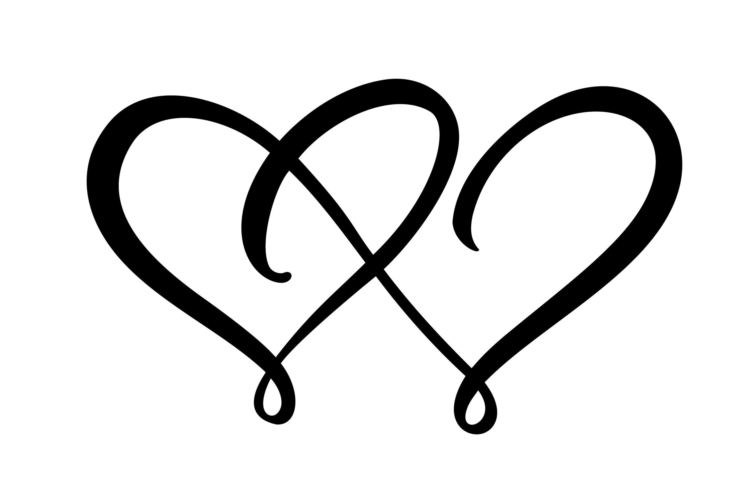 Naklejka na ścianę połączone serca