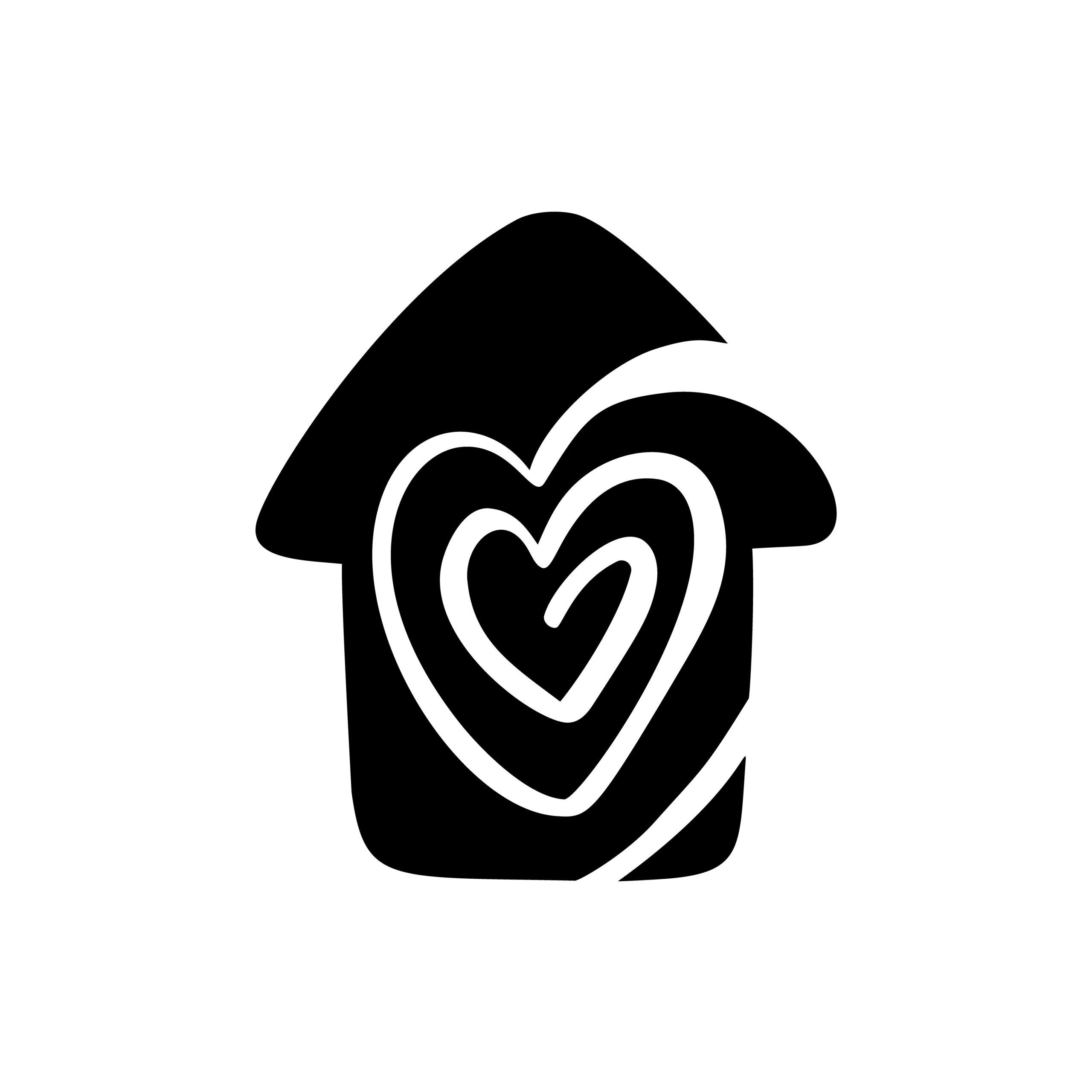 Naklejka na ścianę dom serce przeplatane