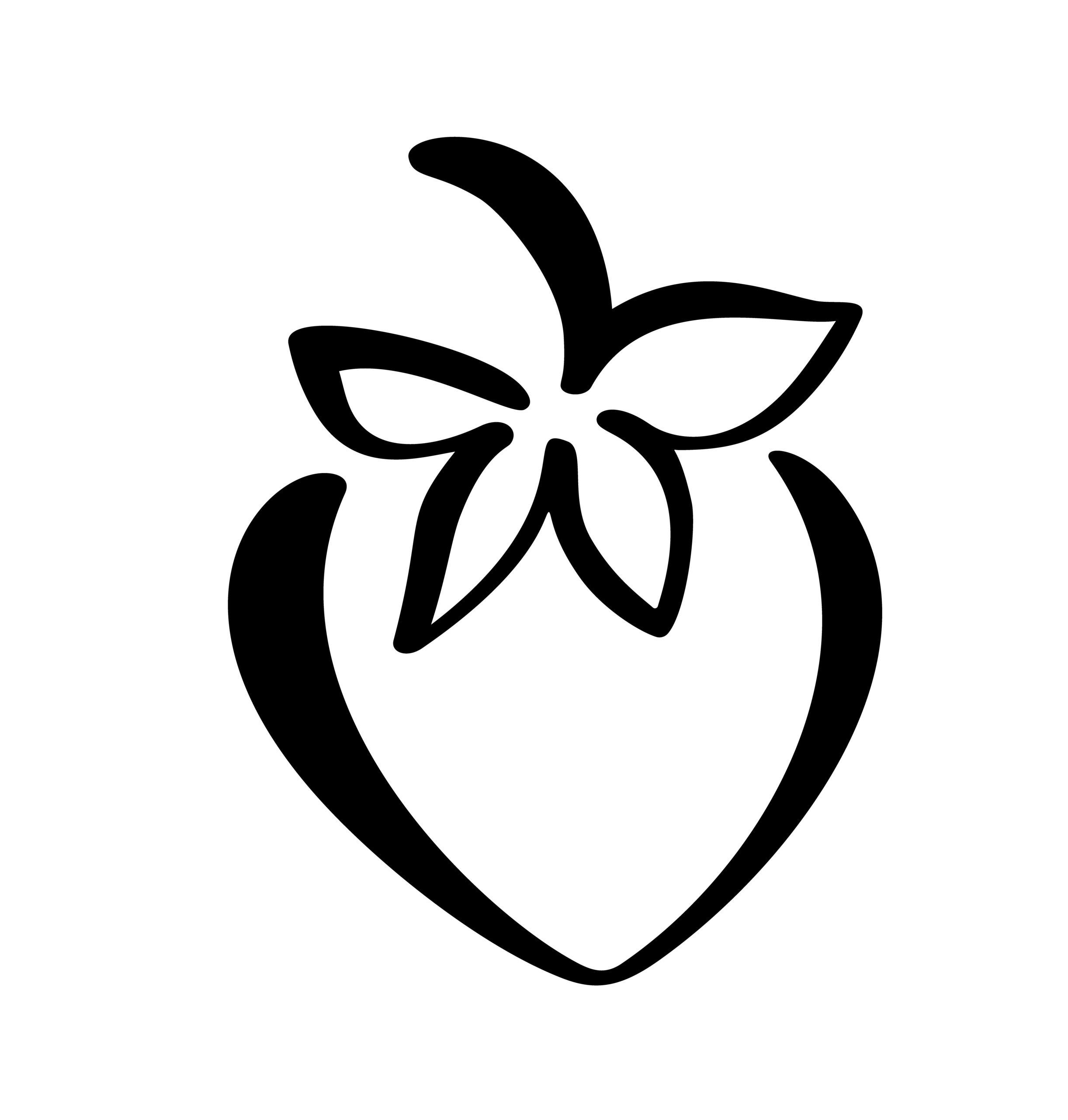 Naklejka na ścianę owoc truskawka