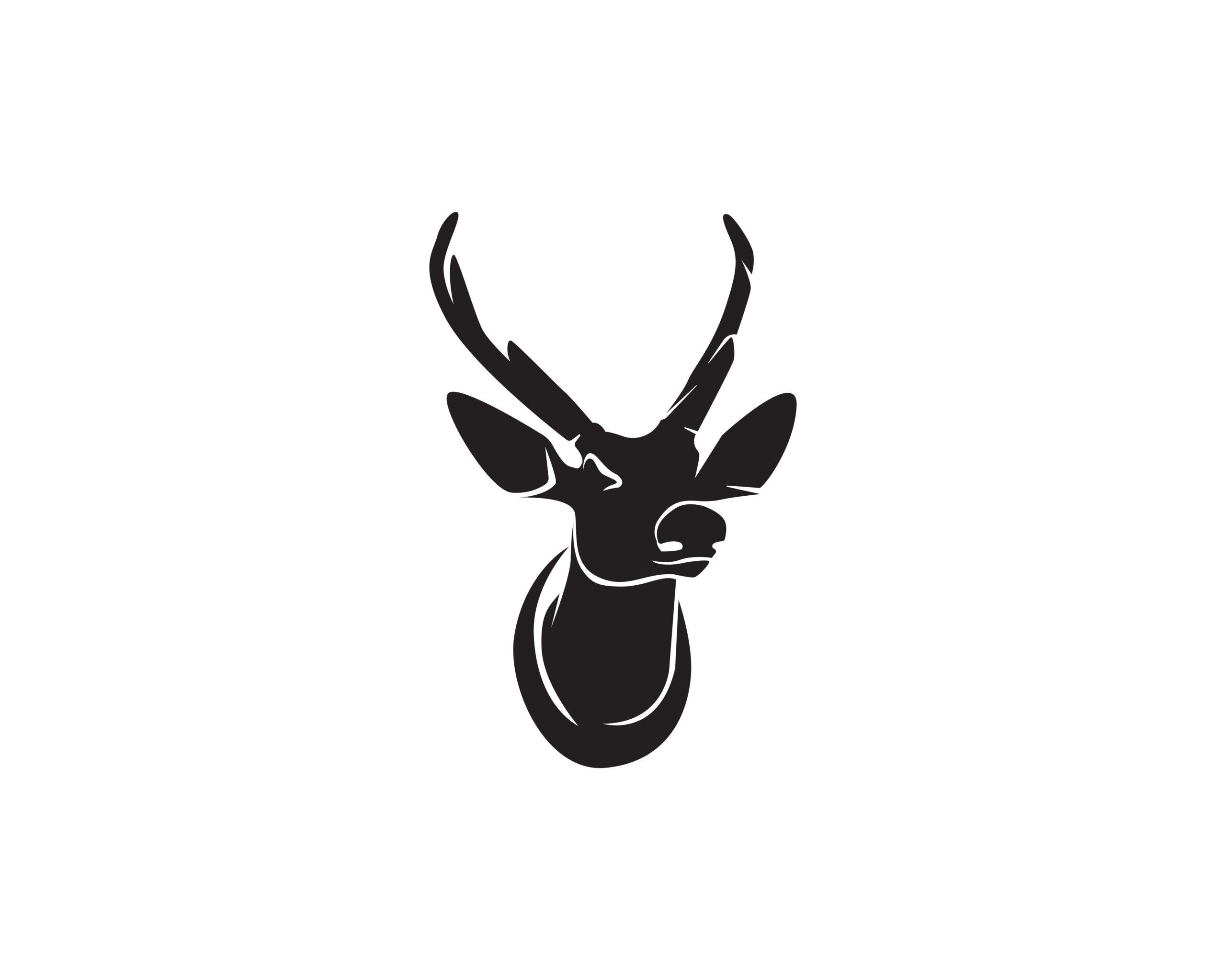 Naklejka na ścianę głowa jelenia trofeum