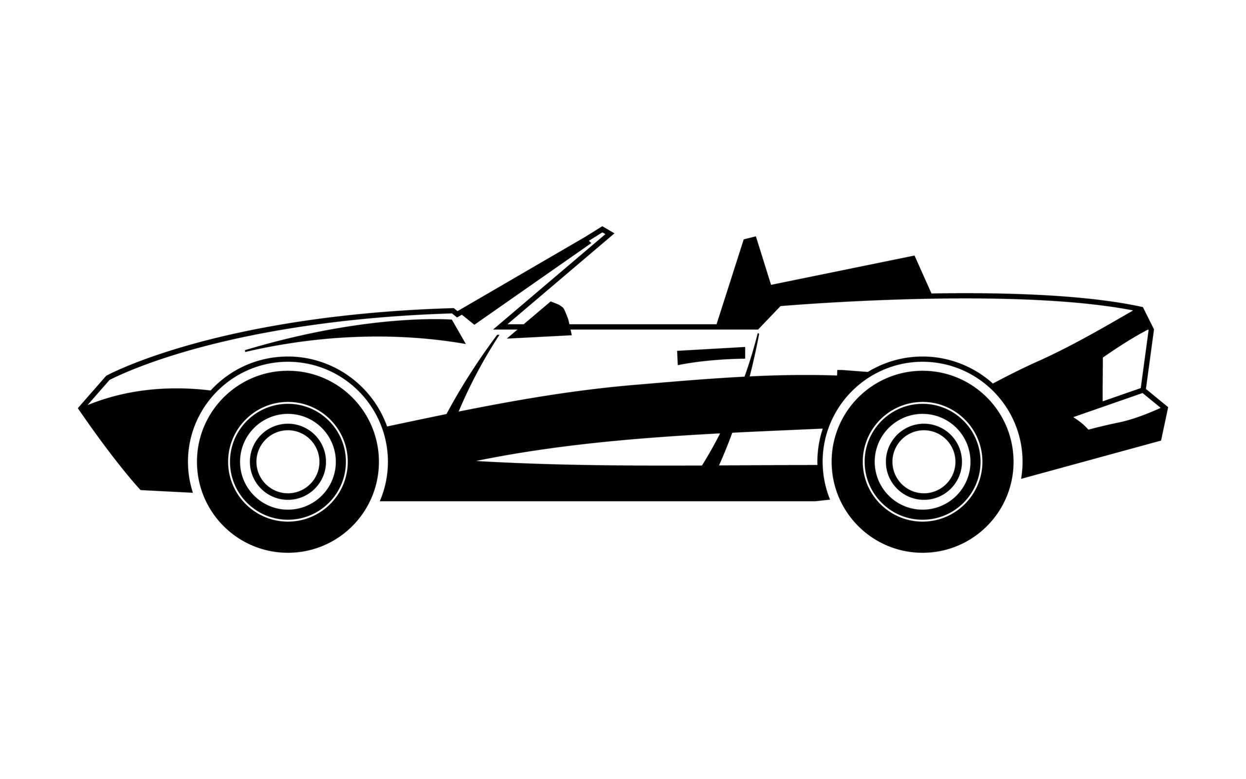 Naklejka na ścianę samochód cabrio