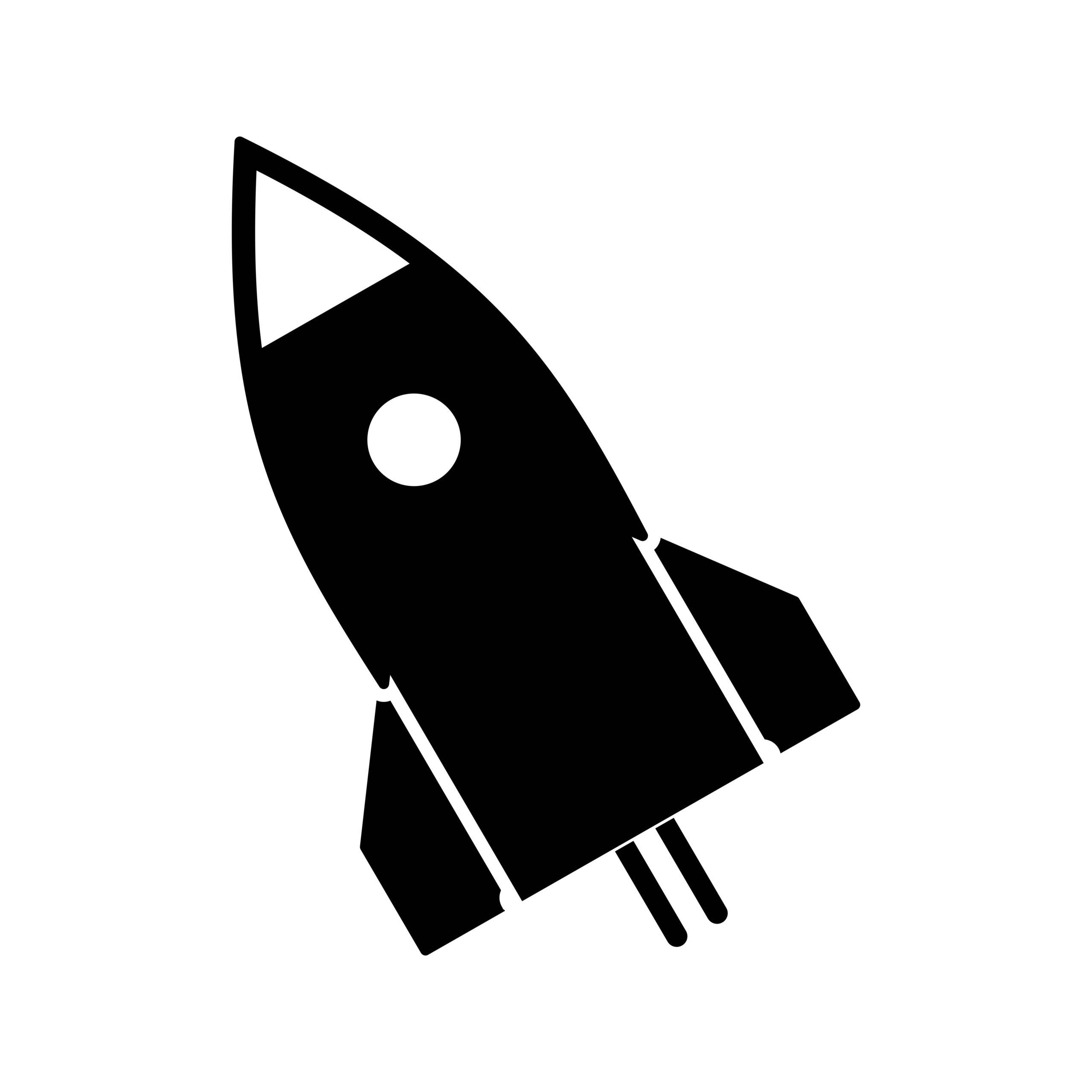 Naklejka na ścianę rakieta kosmos