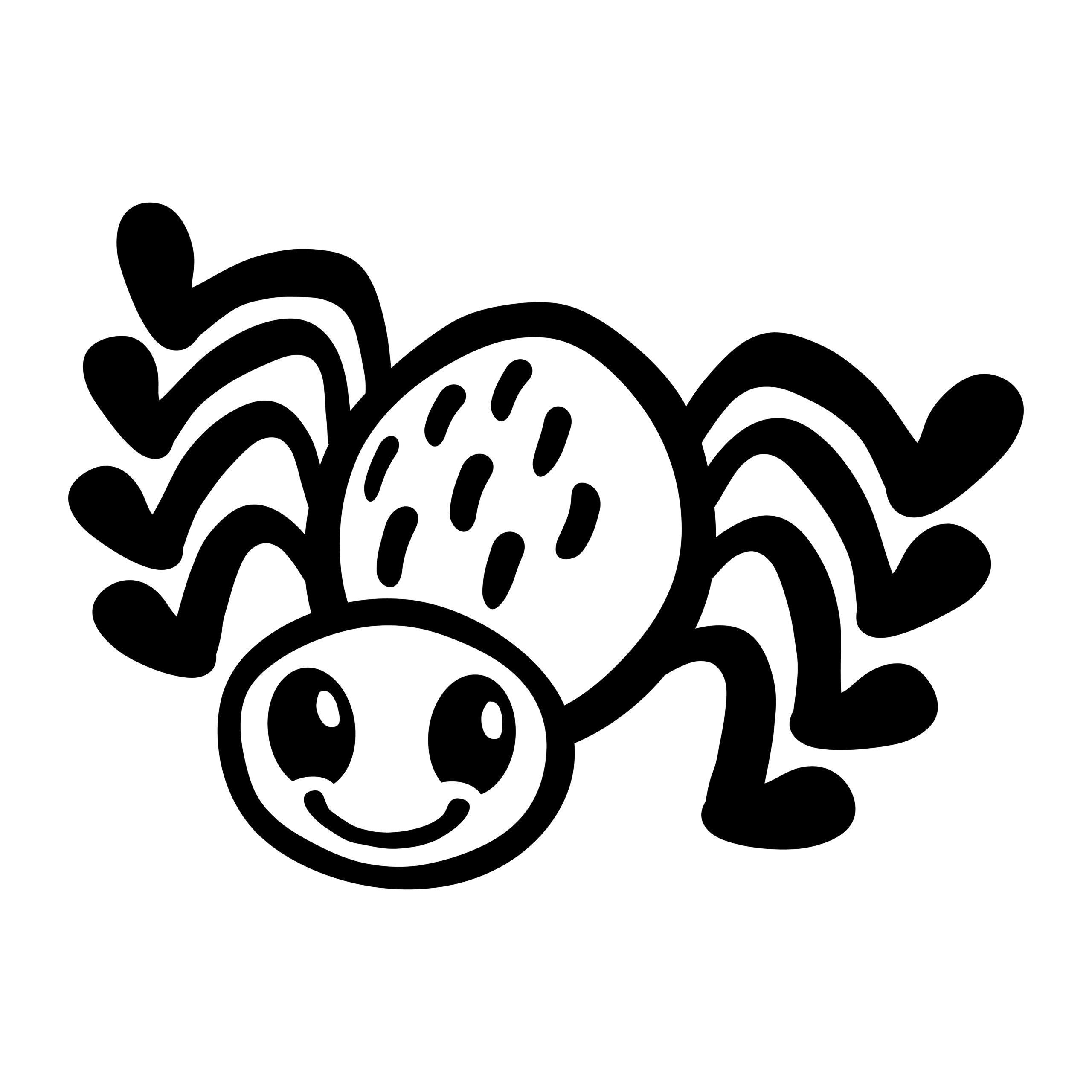 Naklejka na ścianę miły pająk