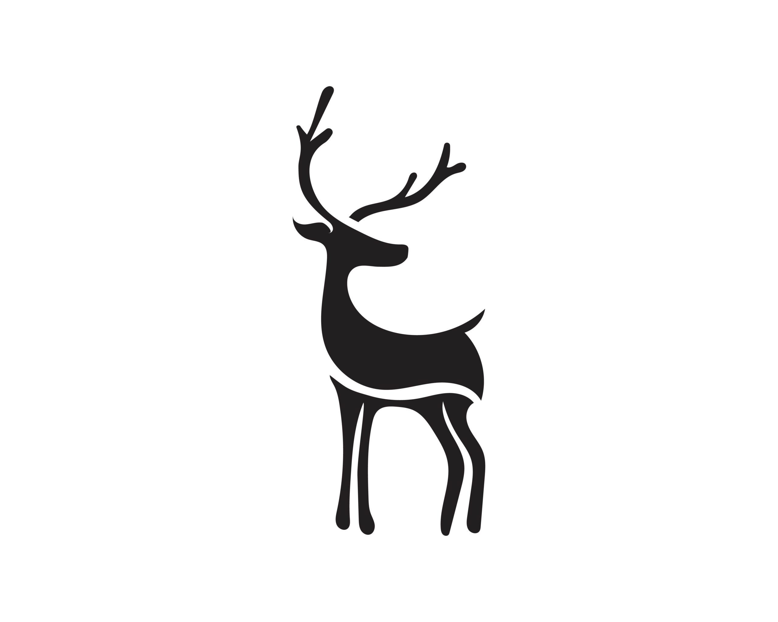 Naklejka na ścianę samica jelenia