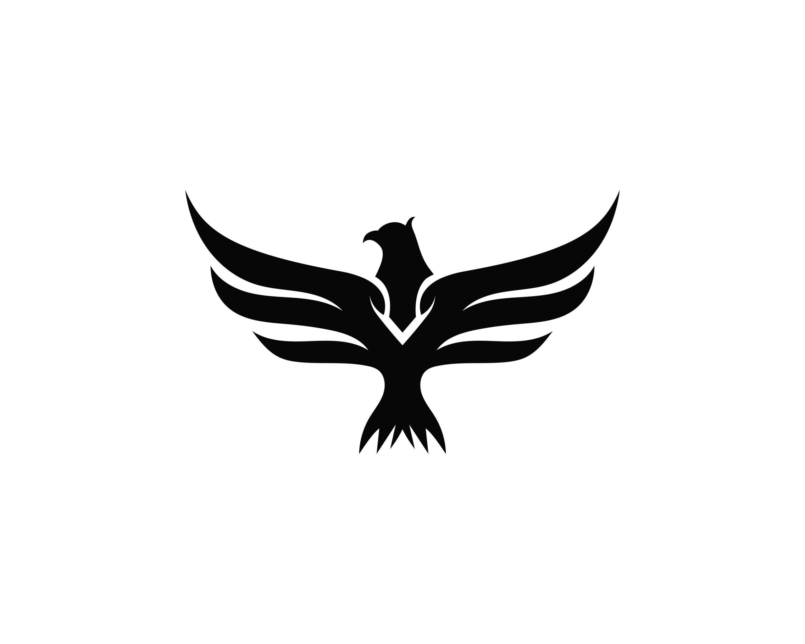 Naklejka na ścianę orzeł skrzydła