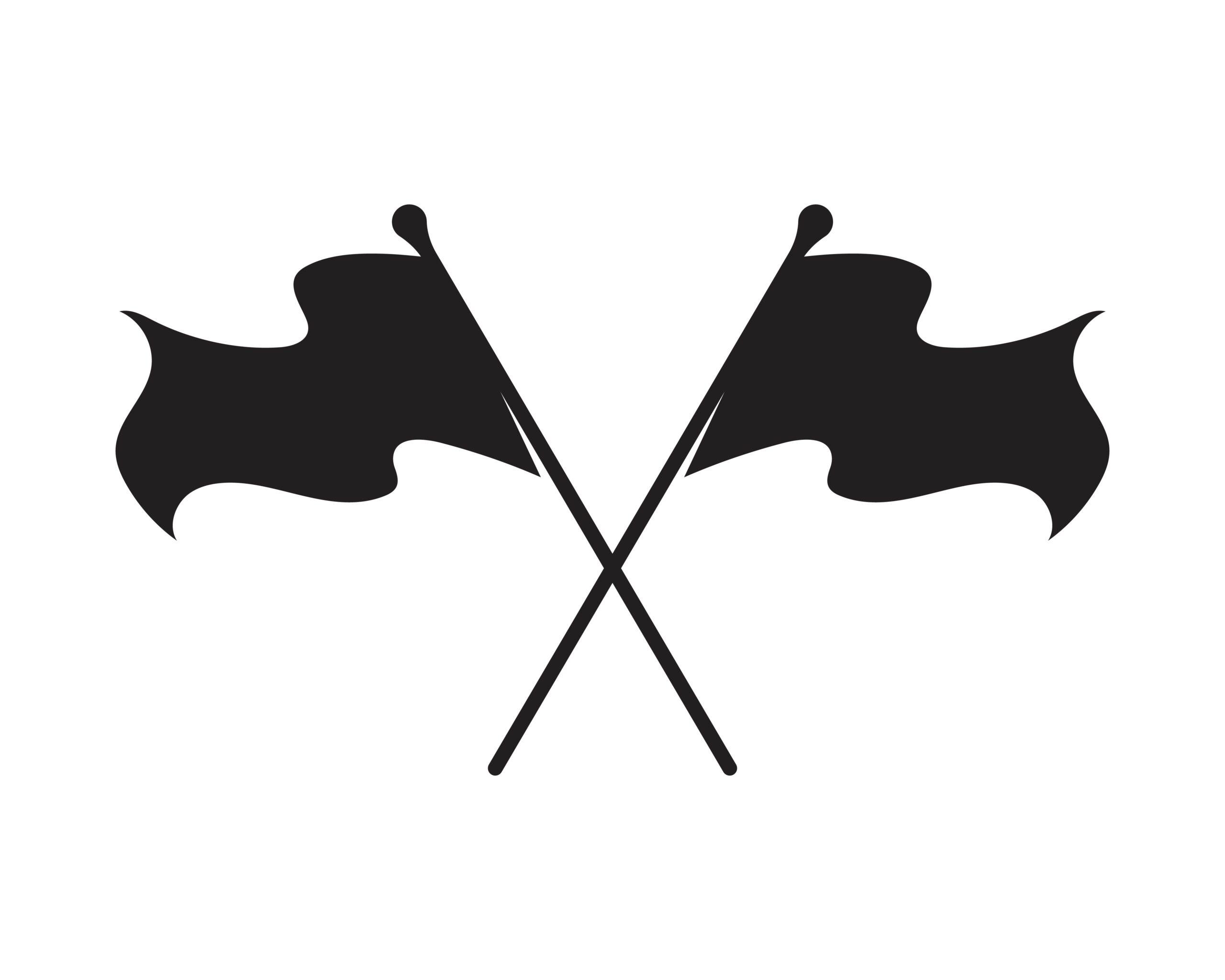 Naklejka na ścianę dwie flagi