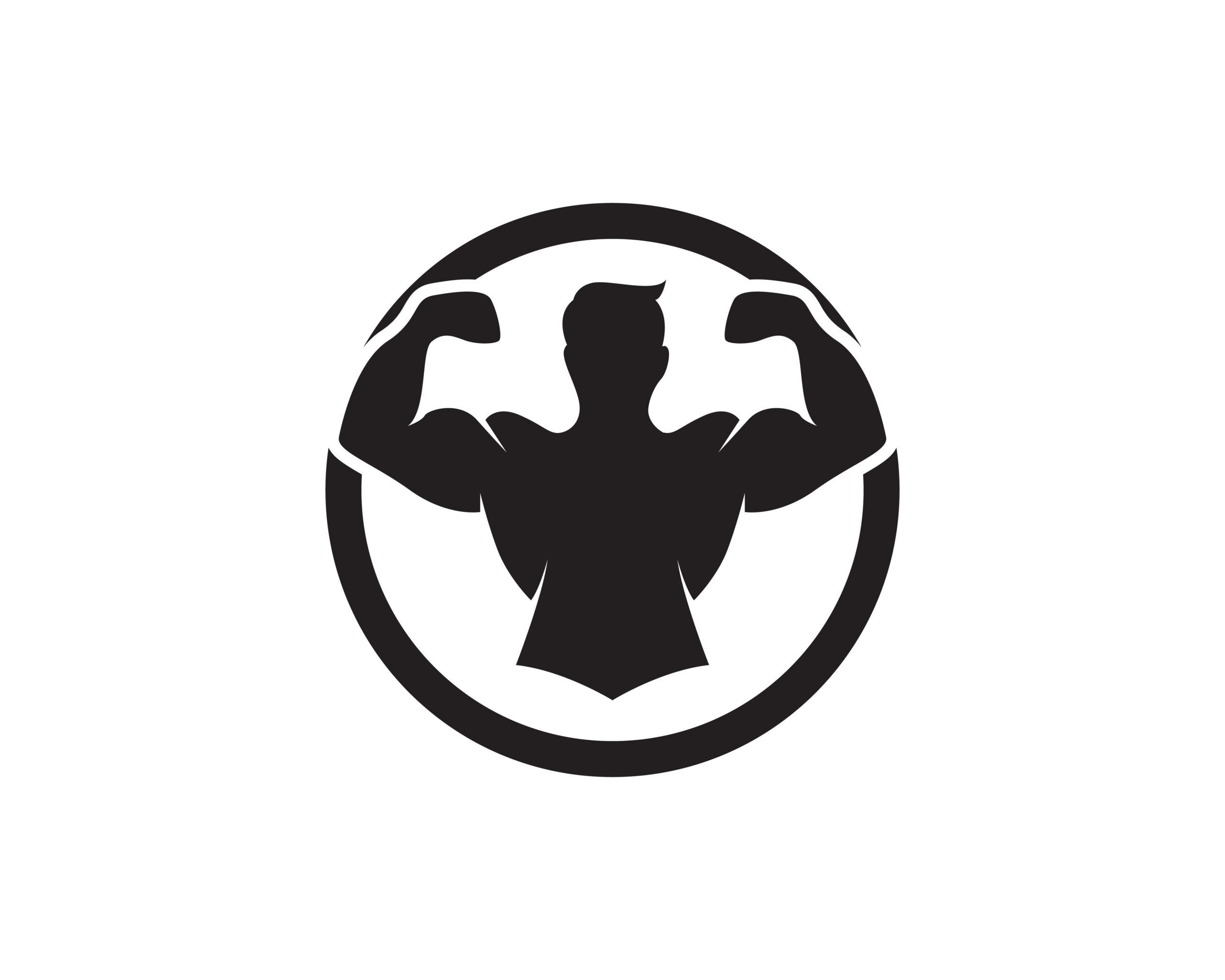 Naklejka na ścianę siłacz biceps