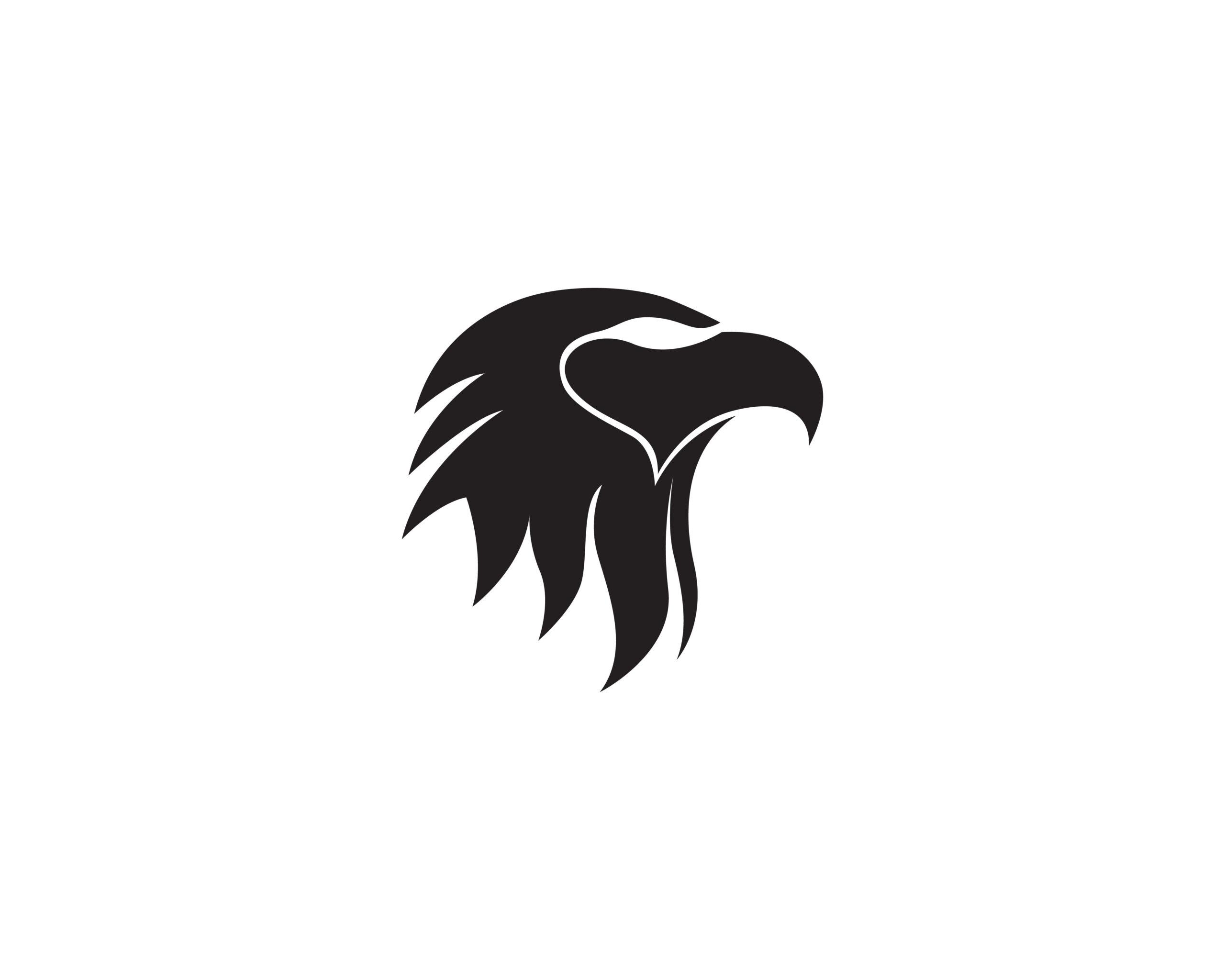 Naklejka na ścianę głowa orła