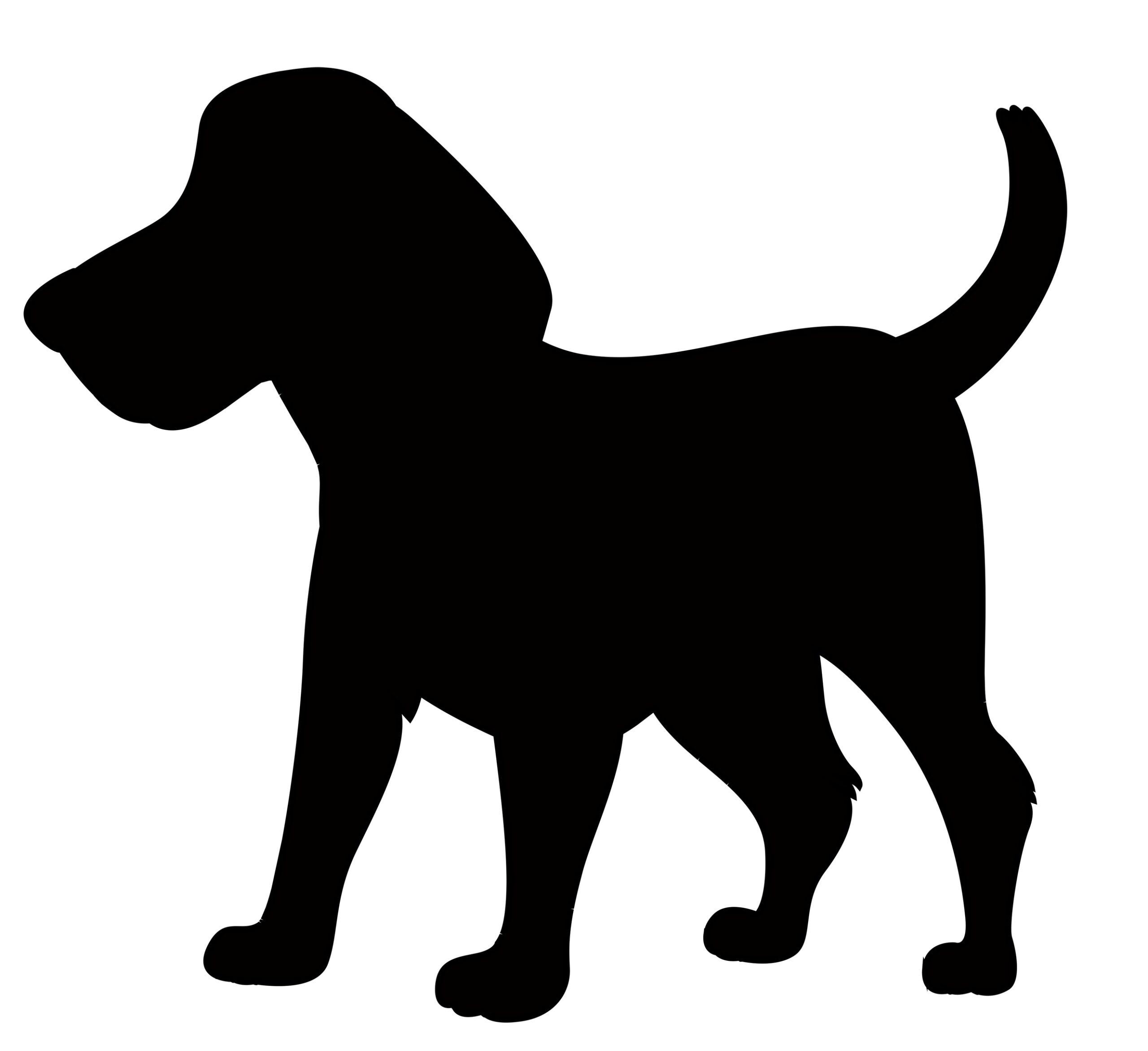 Naklejka na ścianę piesek beagle