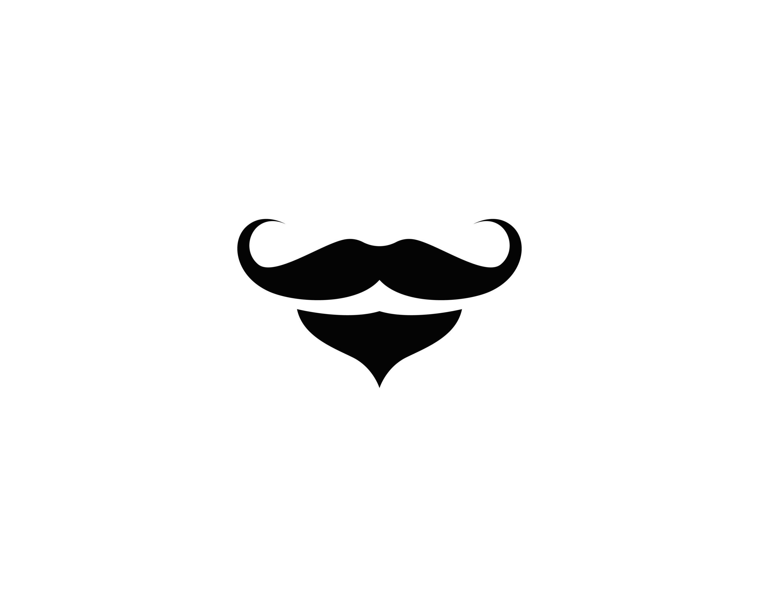 Naklejka na ścianę wąsy i broda