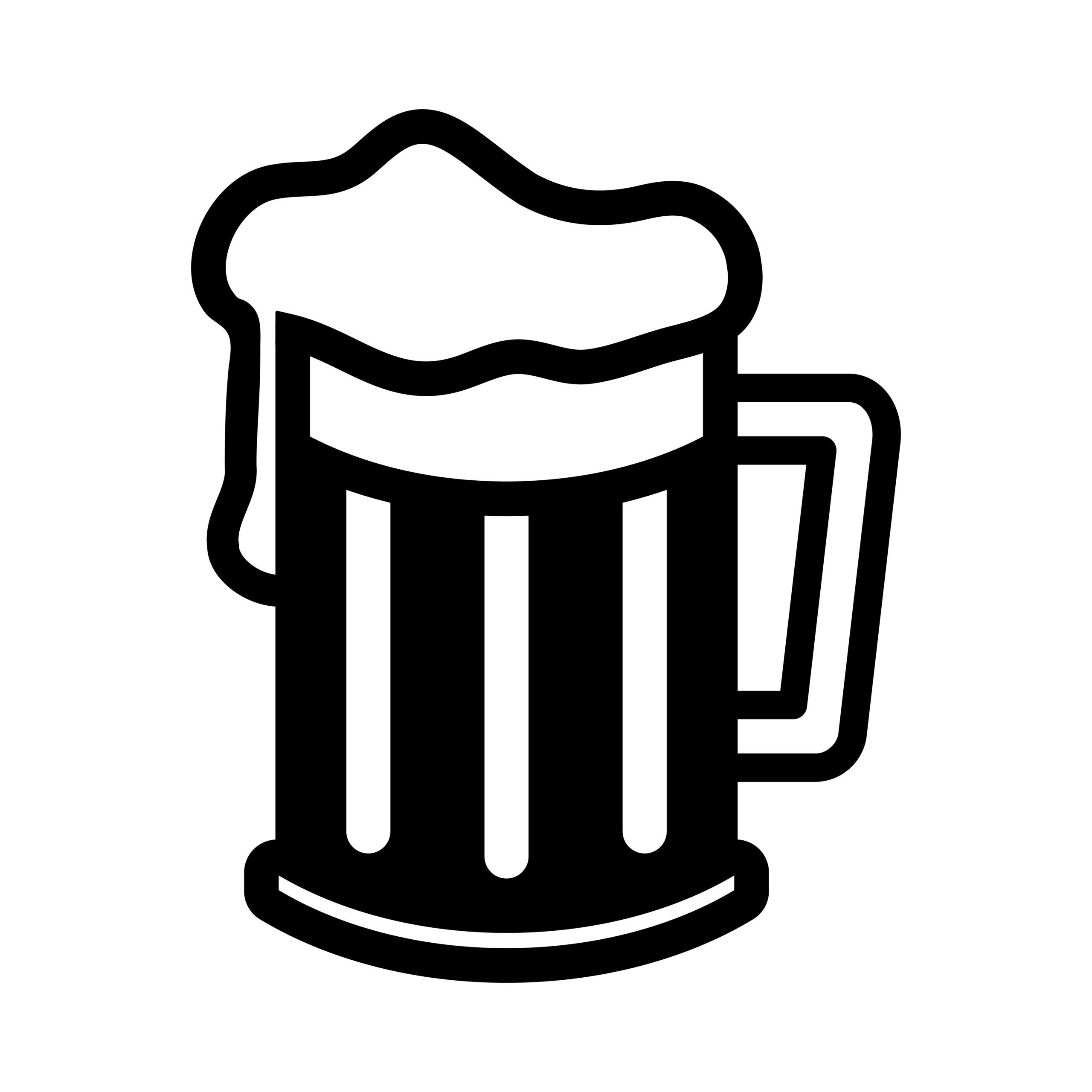 Naklejka na ścianę kufel piwa