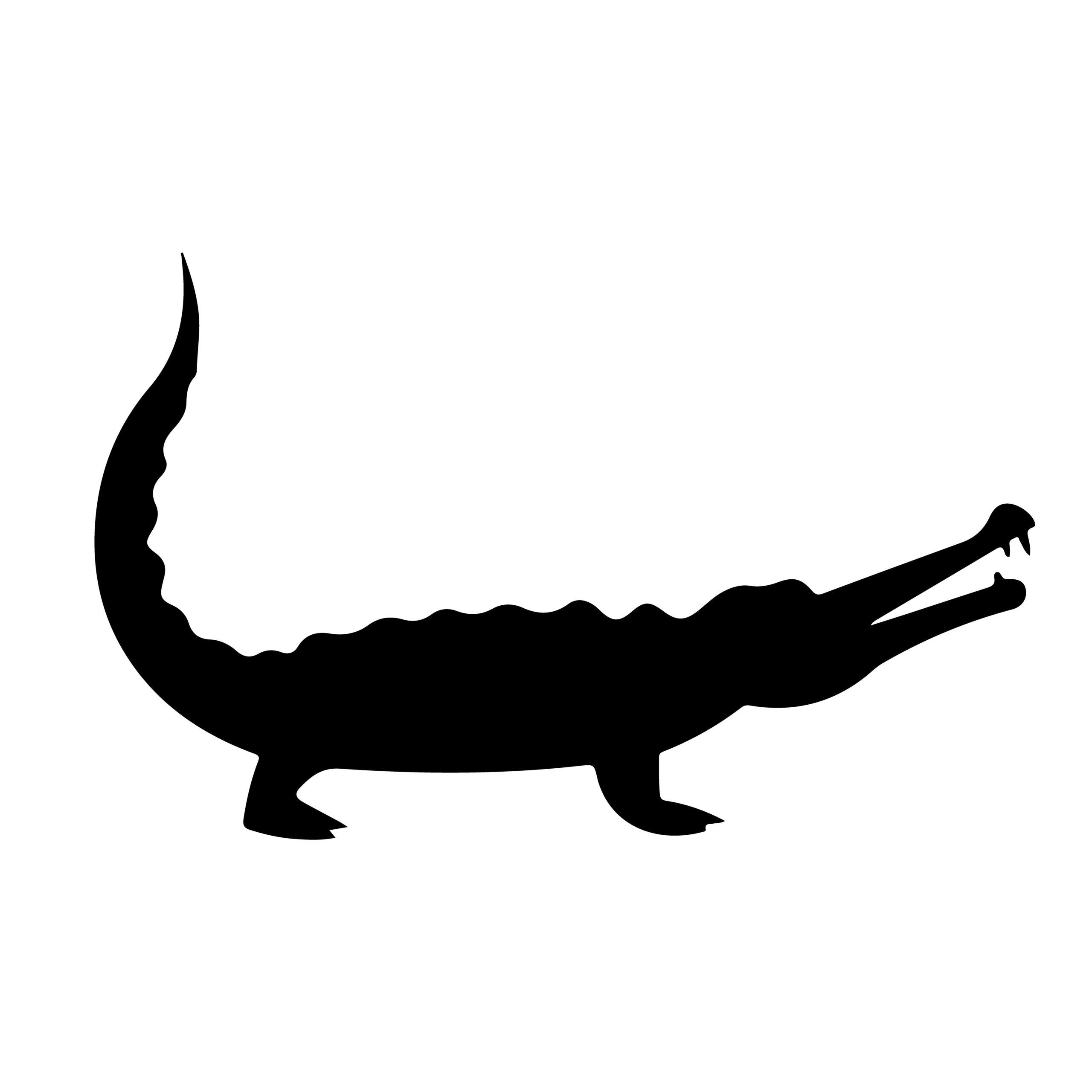 Naklejka na ścianę aligator krokodyl