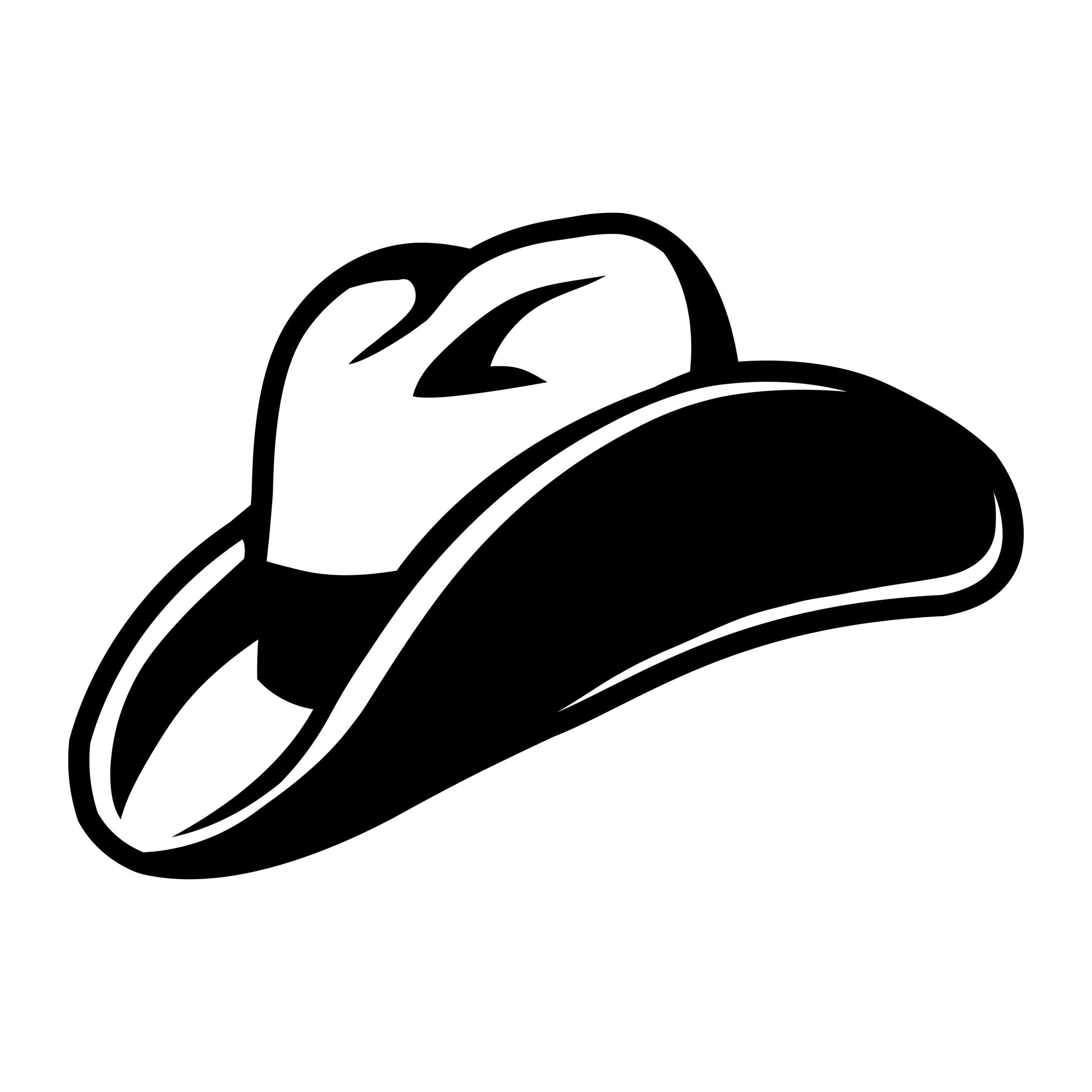 Naklejka na ścianę kapelusz kowboj