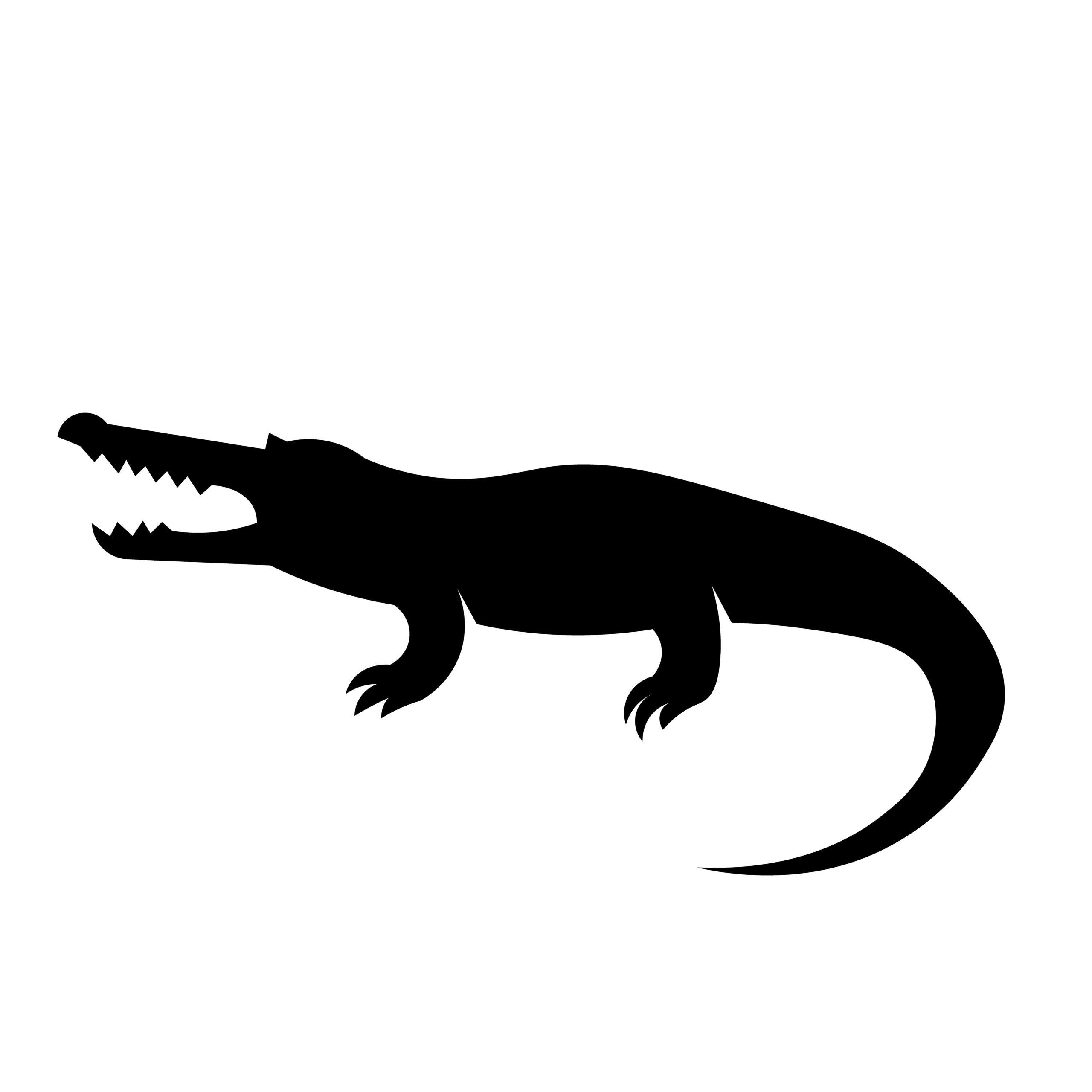 Naklejka na ścianę krokodylek