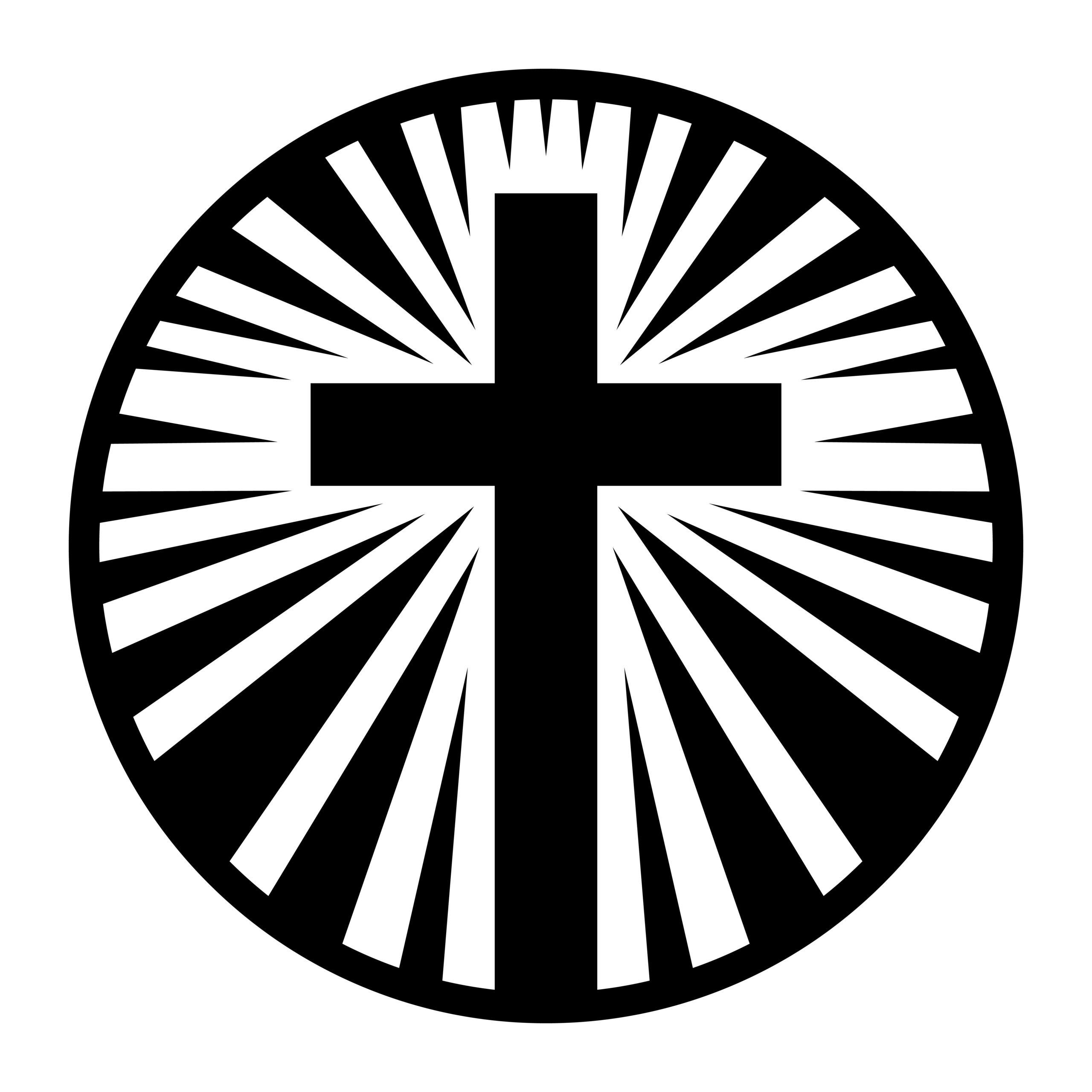 Naklejka na ścianę krzyż okrąg wiara