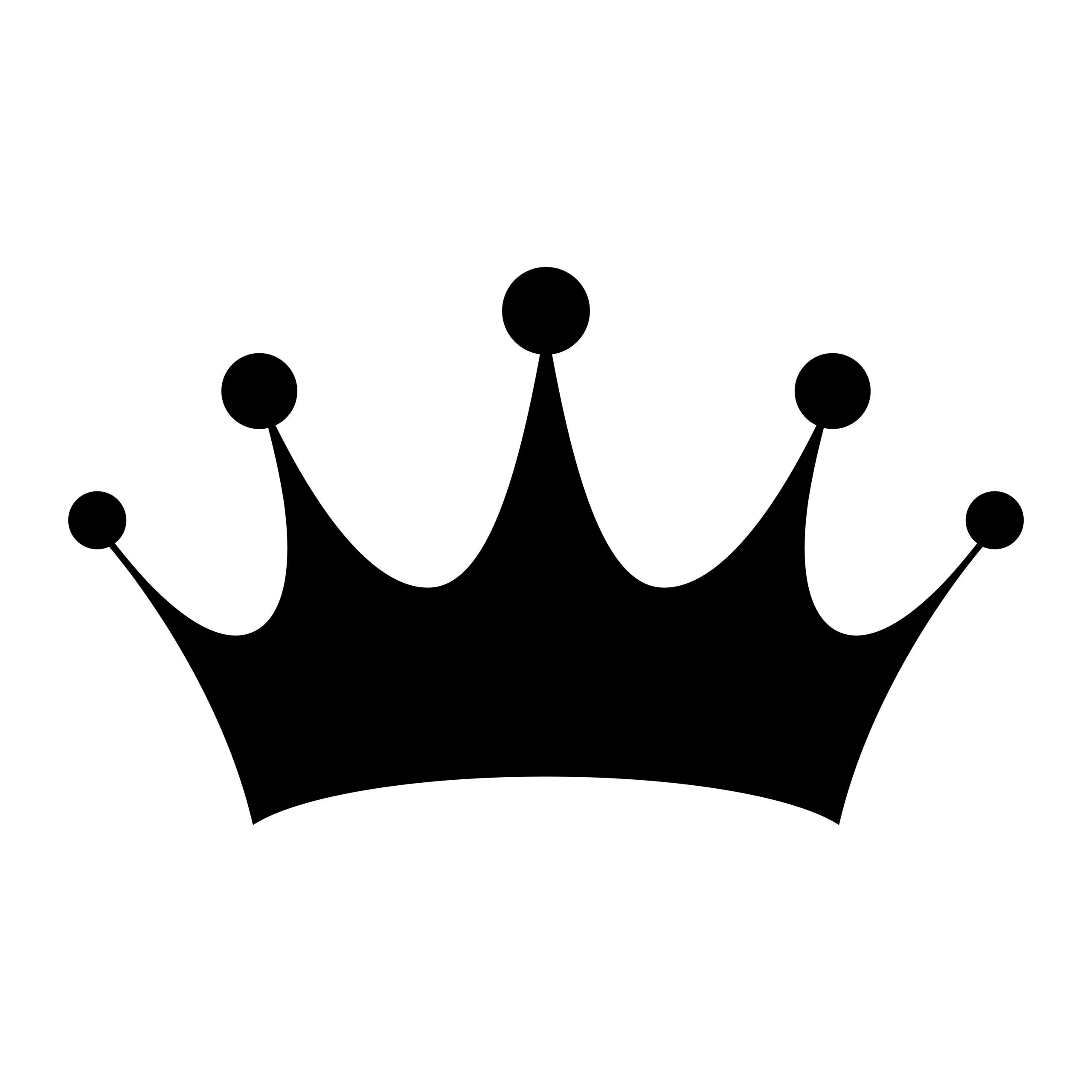 Naklejka na ścianę korona królowa