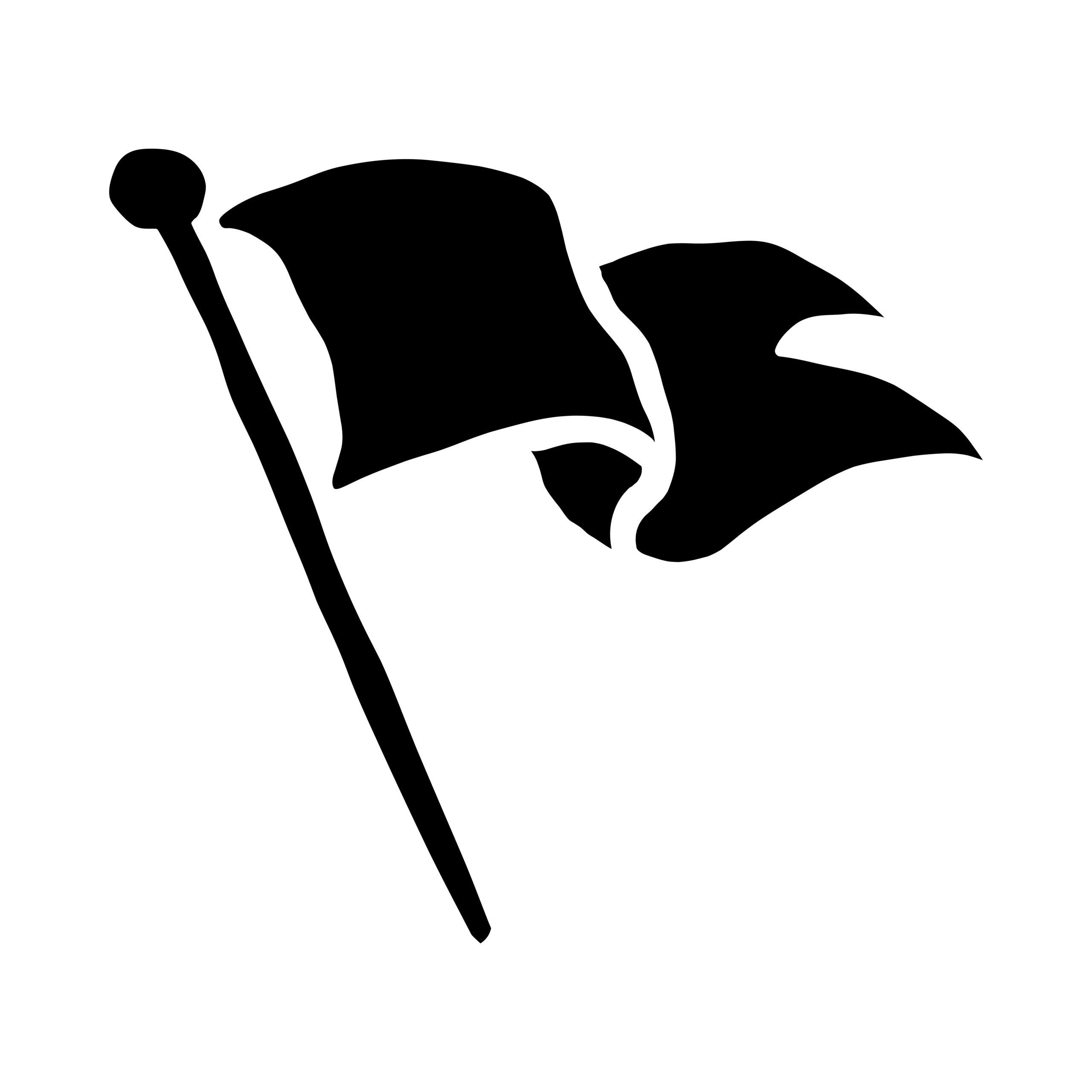 Naklejka na ścianę flaga na wietrze