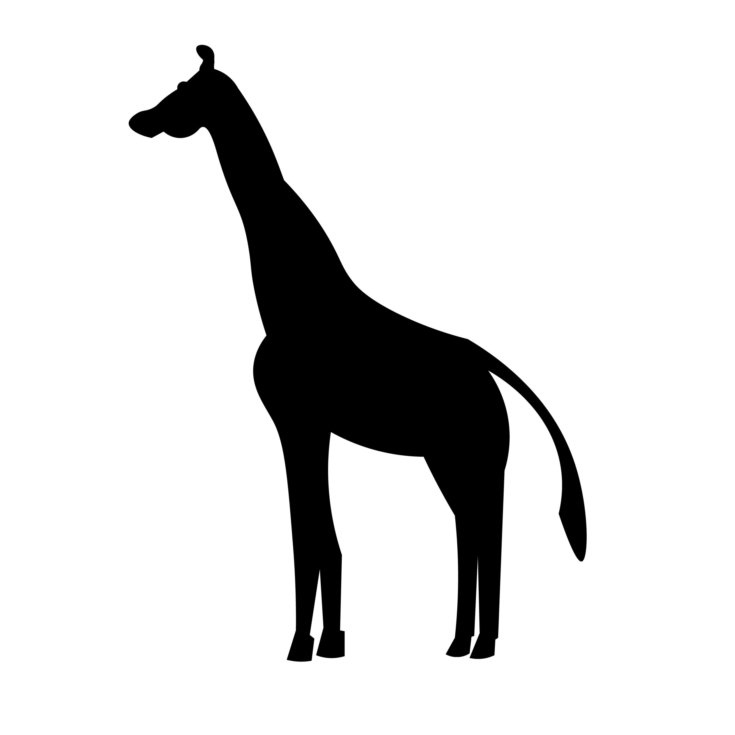 Naklejka na ścianę żyrafka