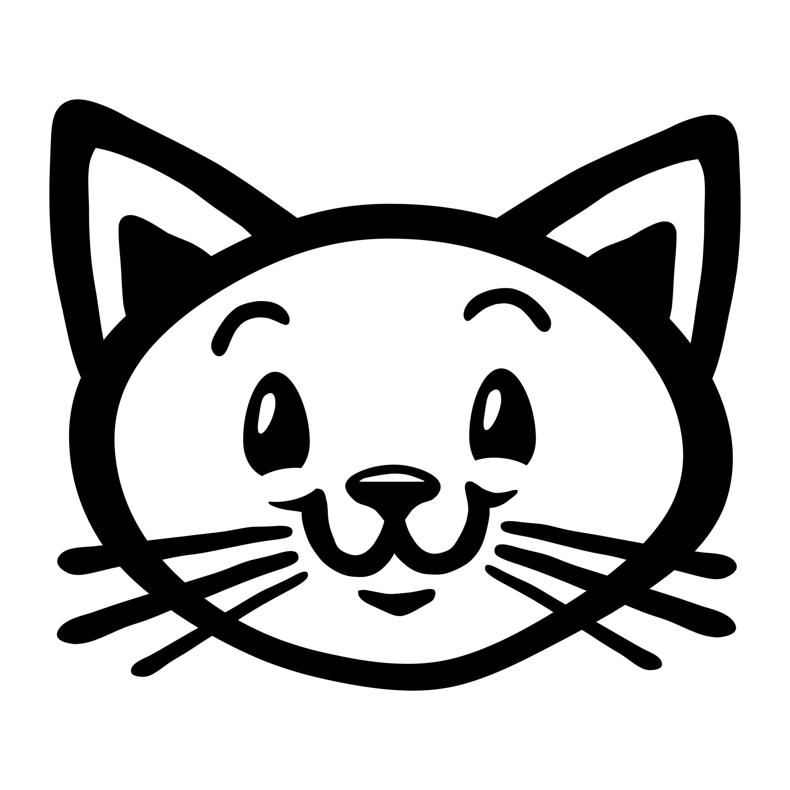 Naklejka na ścianę szczęśliwy kotek