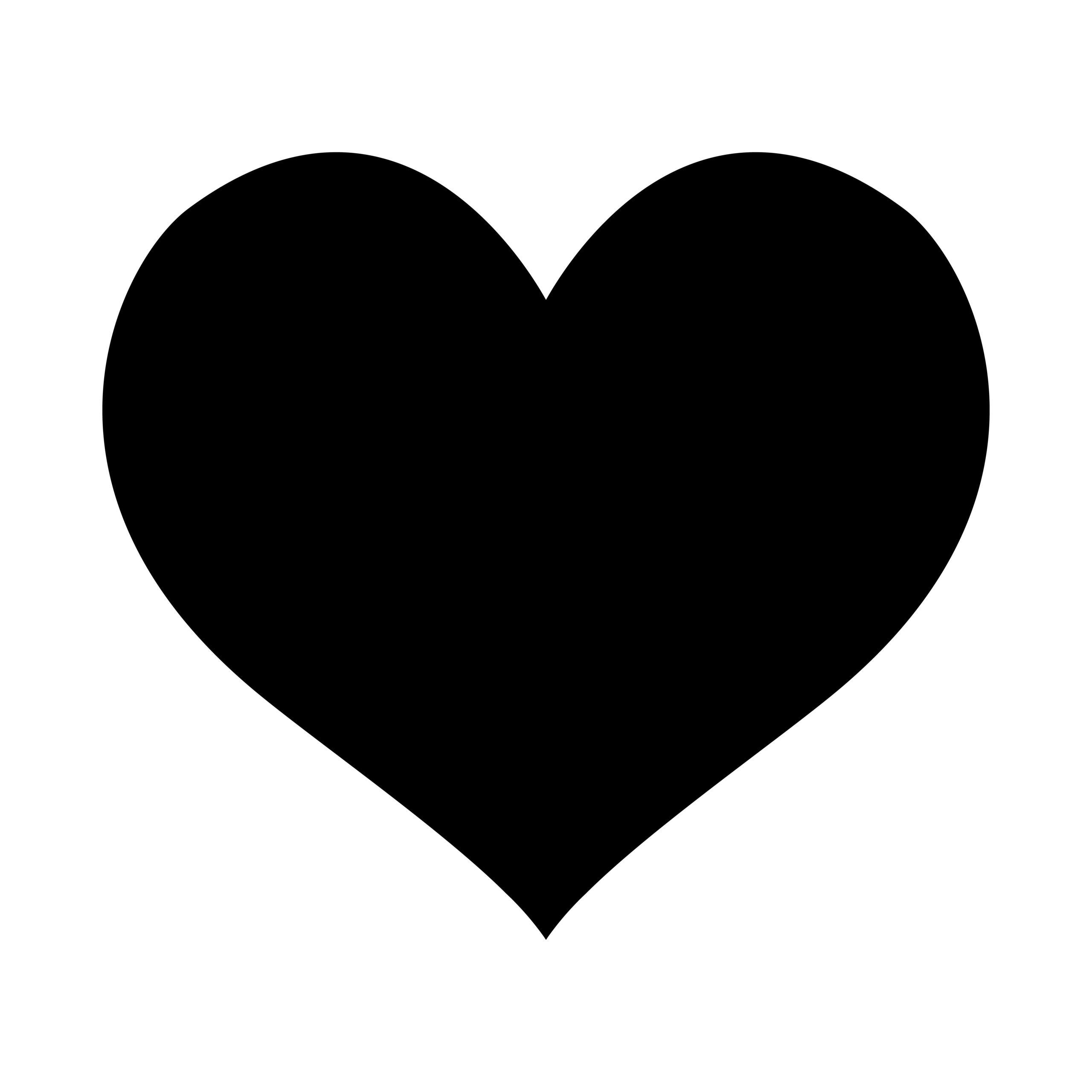 Naklejka na ścianę serce pełne