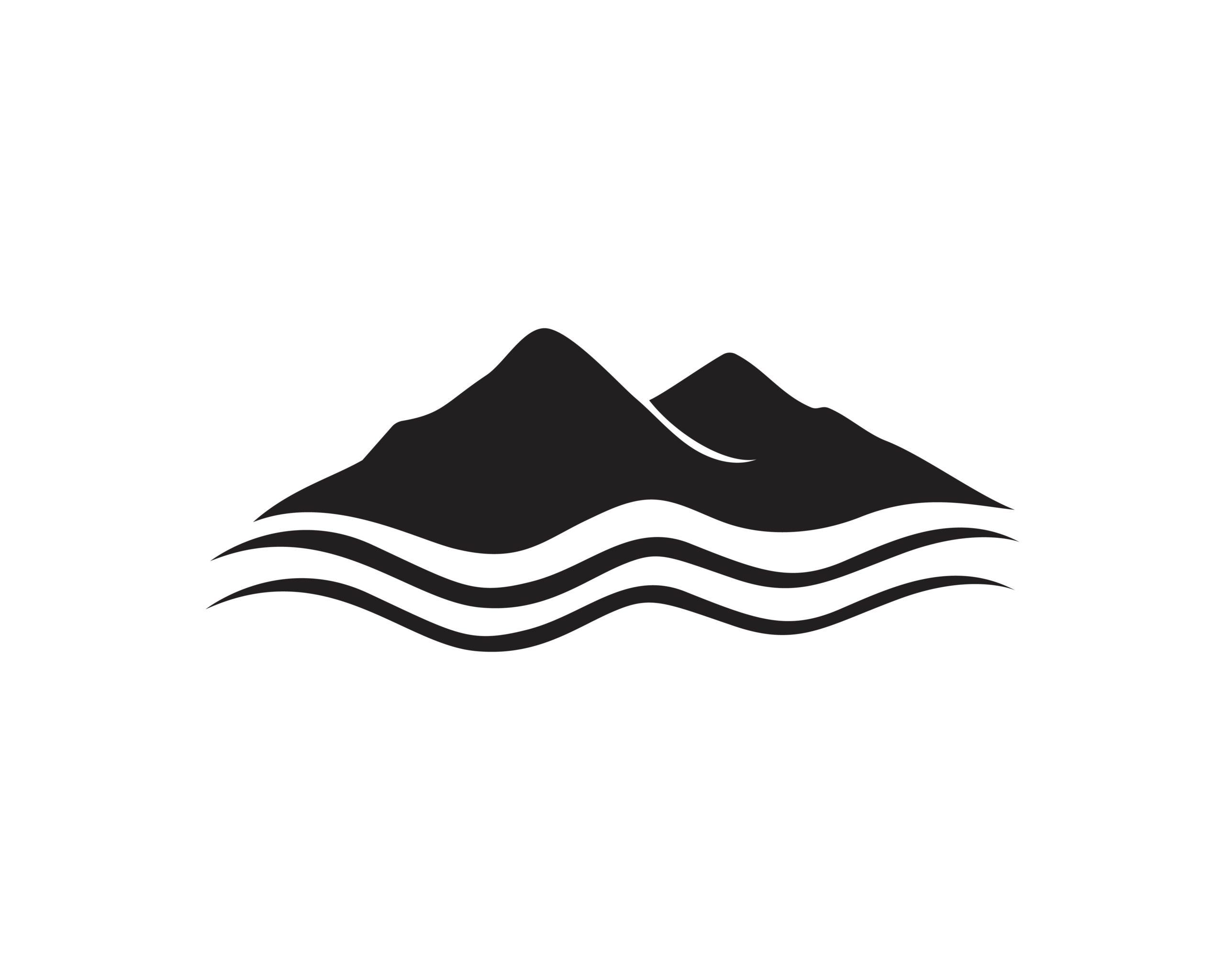 Naklejka na ścianę góry i ocean