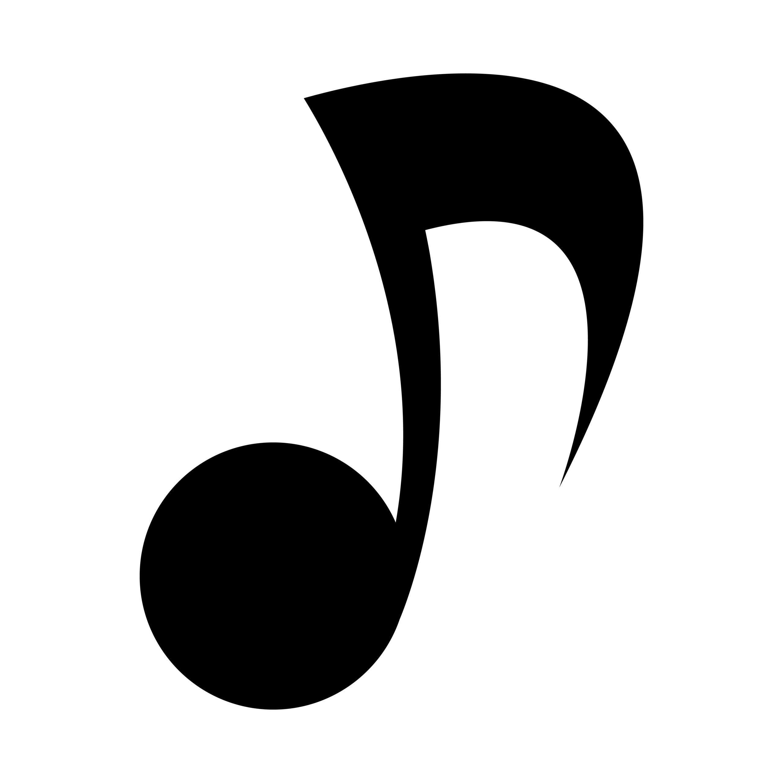 Naklejka na ścianę nutka muzyka