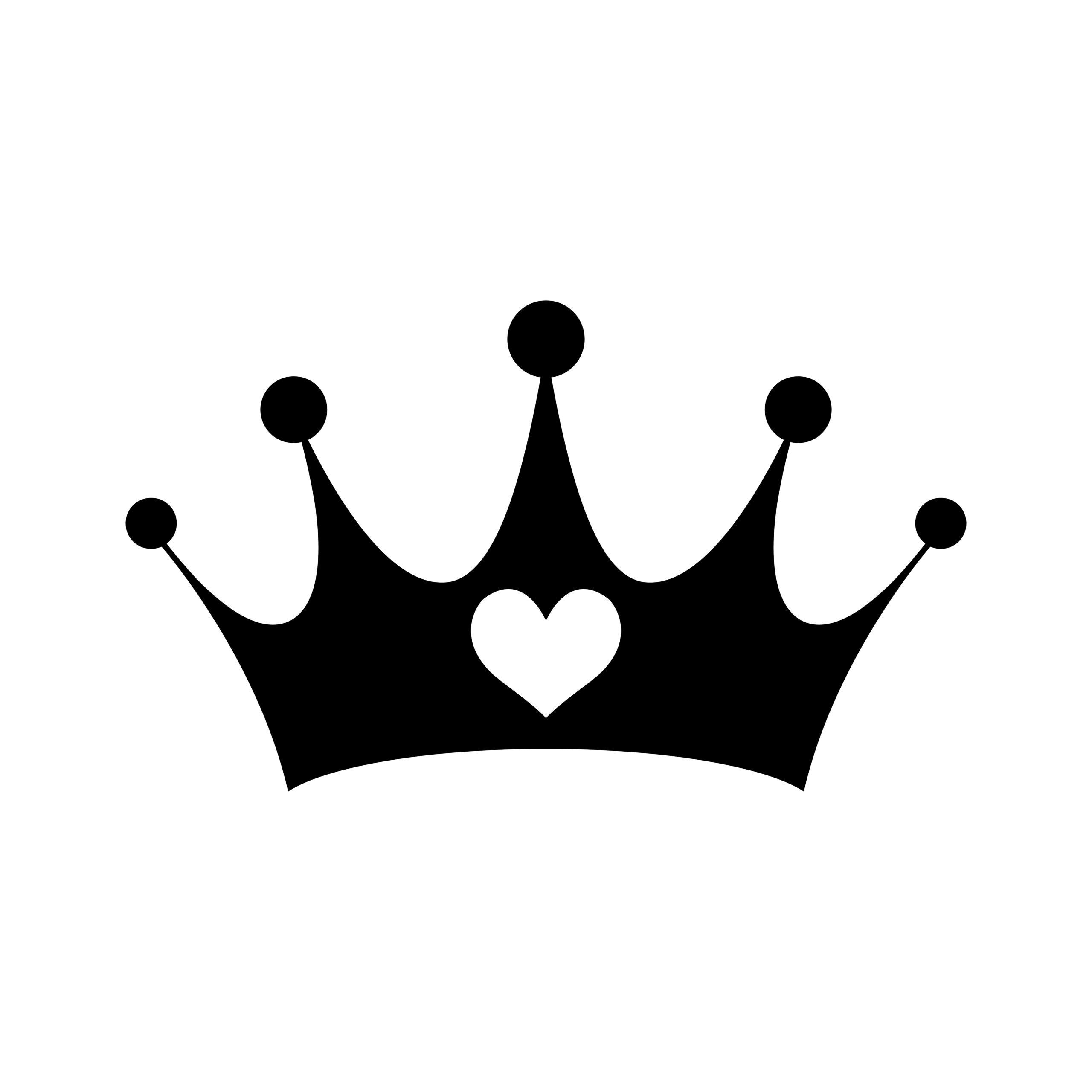 Naklejka na ścianę korona serce