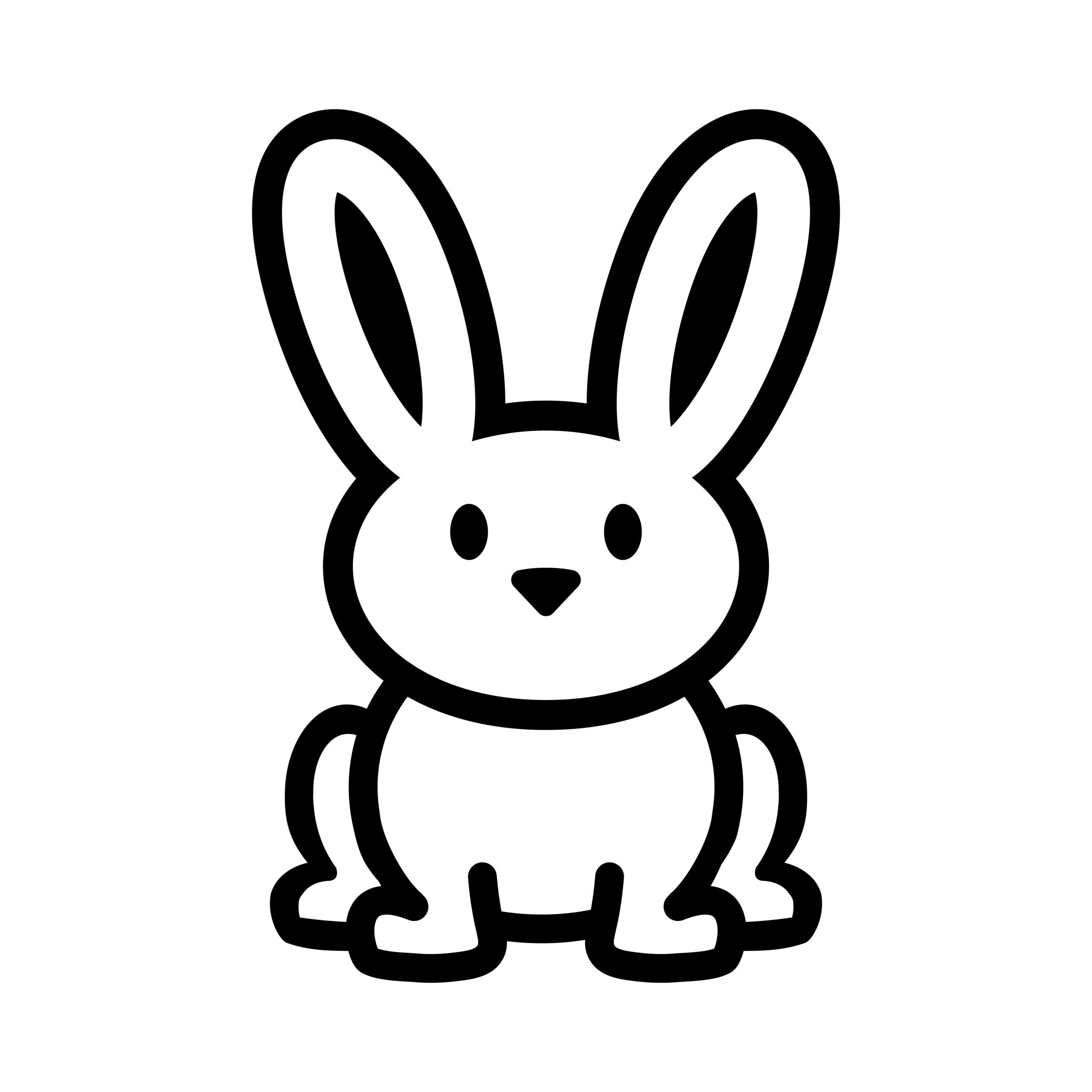 Naklejka na ścianę miły królik