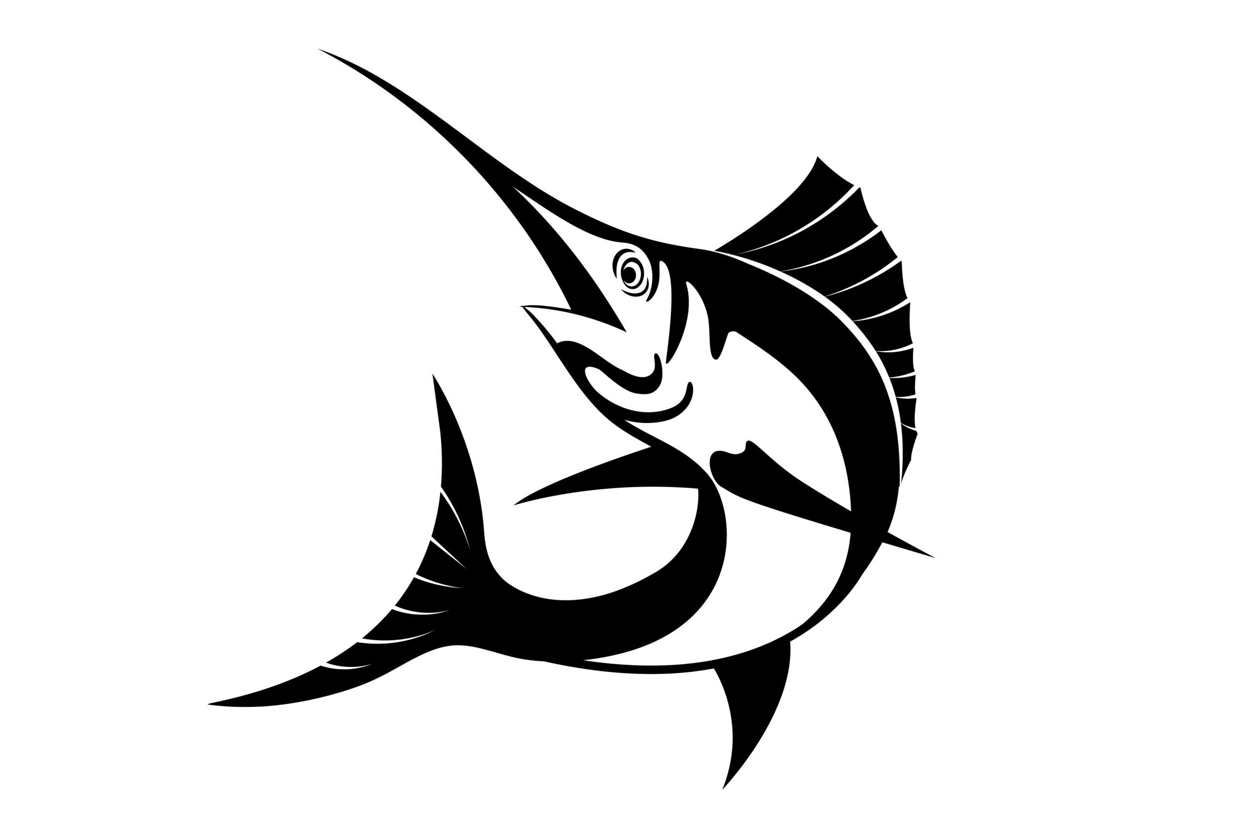 Naklejka na ścianę marlin rybactwo