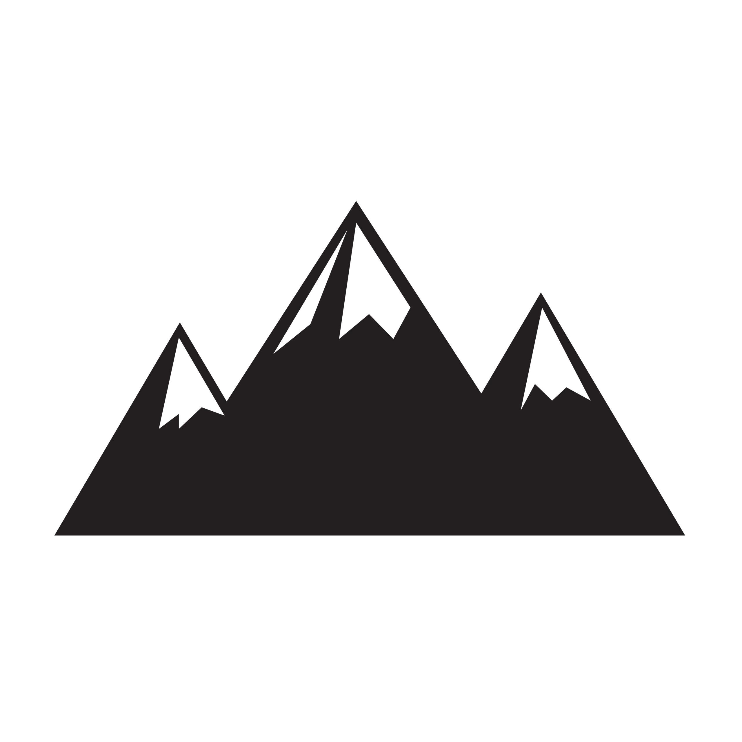 Naklejka na ścianę pasmo góry