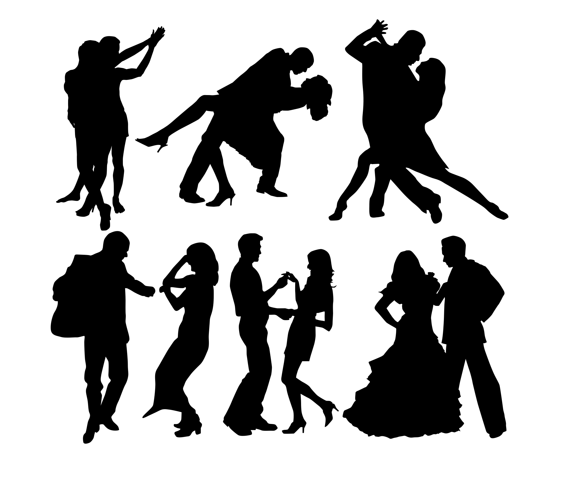 Komplet naklejek tancerze 6 sztuk 45cm  x 40cm